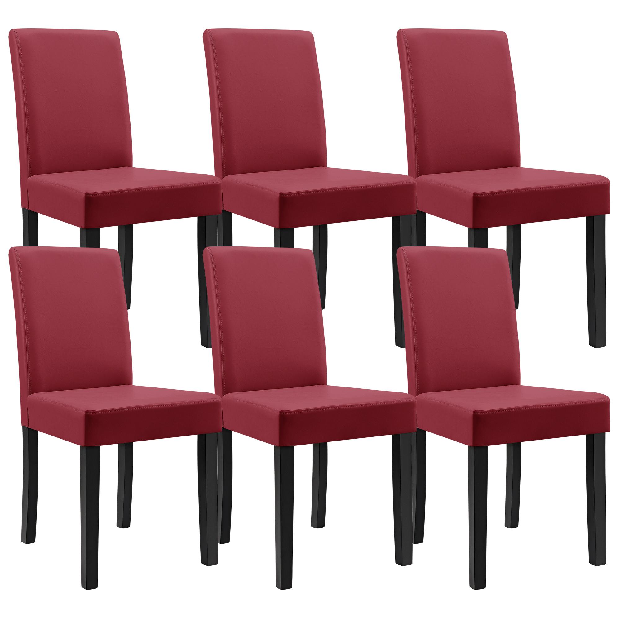 en.casa]® Set de 6 sillas de comedor tapizadas piel sintética ...