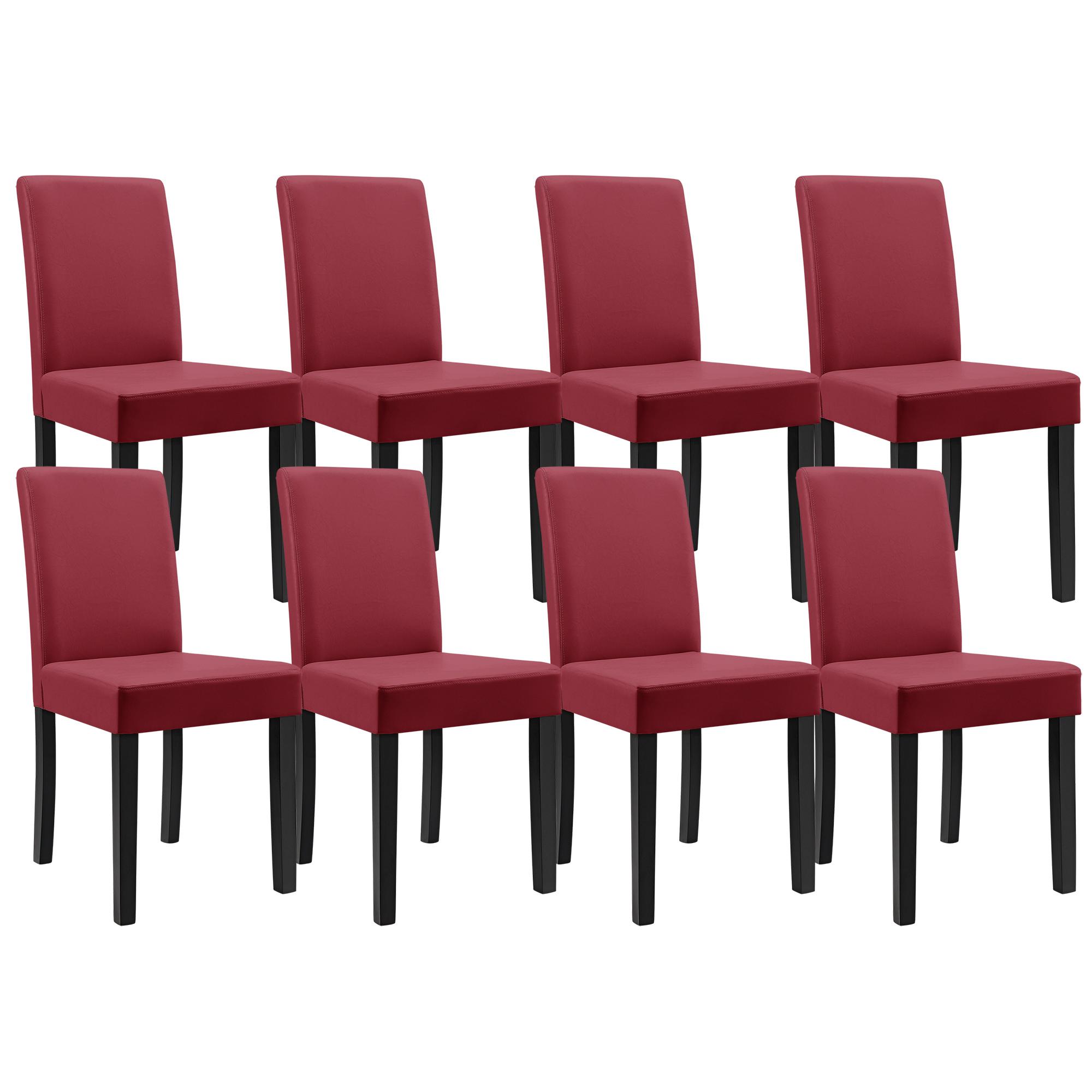 en.casa]® Set de 8 sillas de comedor tapizadas piel sintética ...