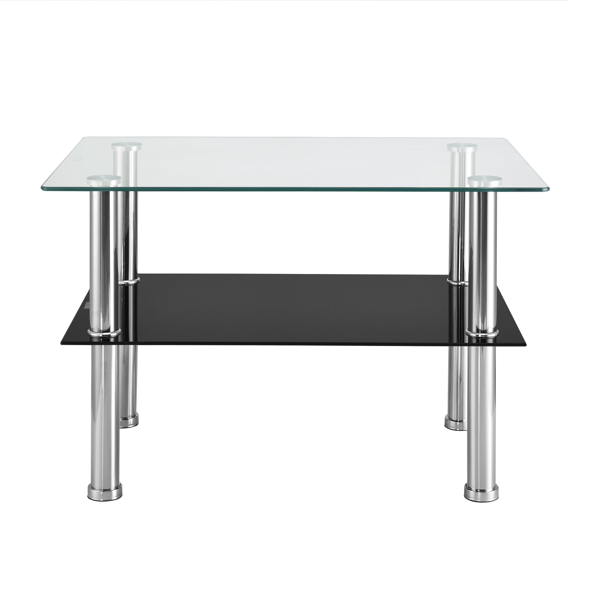 en.casa® Table Basse Table Gigogne Table de Salon en Verre de ...
