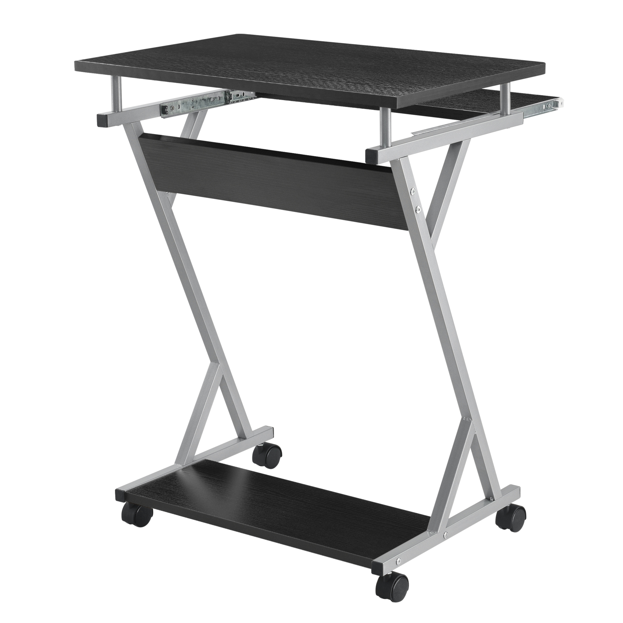 Schreibtisch 60x40x75cm Rollbar Computertisch Bürotisch mit Rollen en.casa