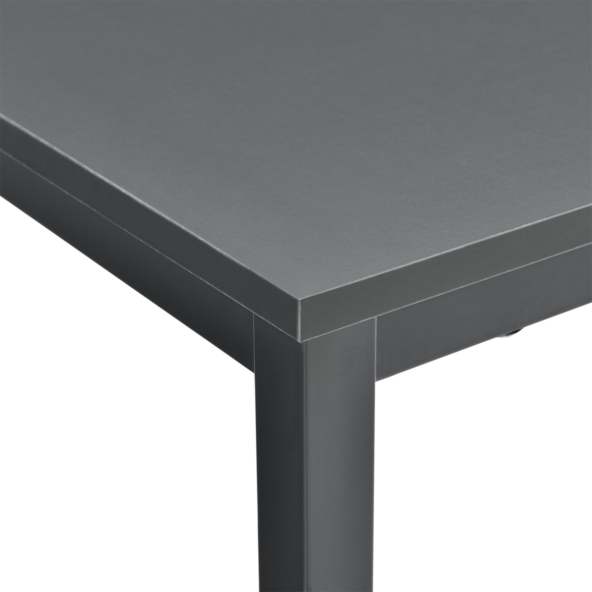 """[en.casa]® Esstisch """"Herford"""" Weiß Dunkelgrau Wohnzimmer Esszimmer Tisch Küche"""