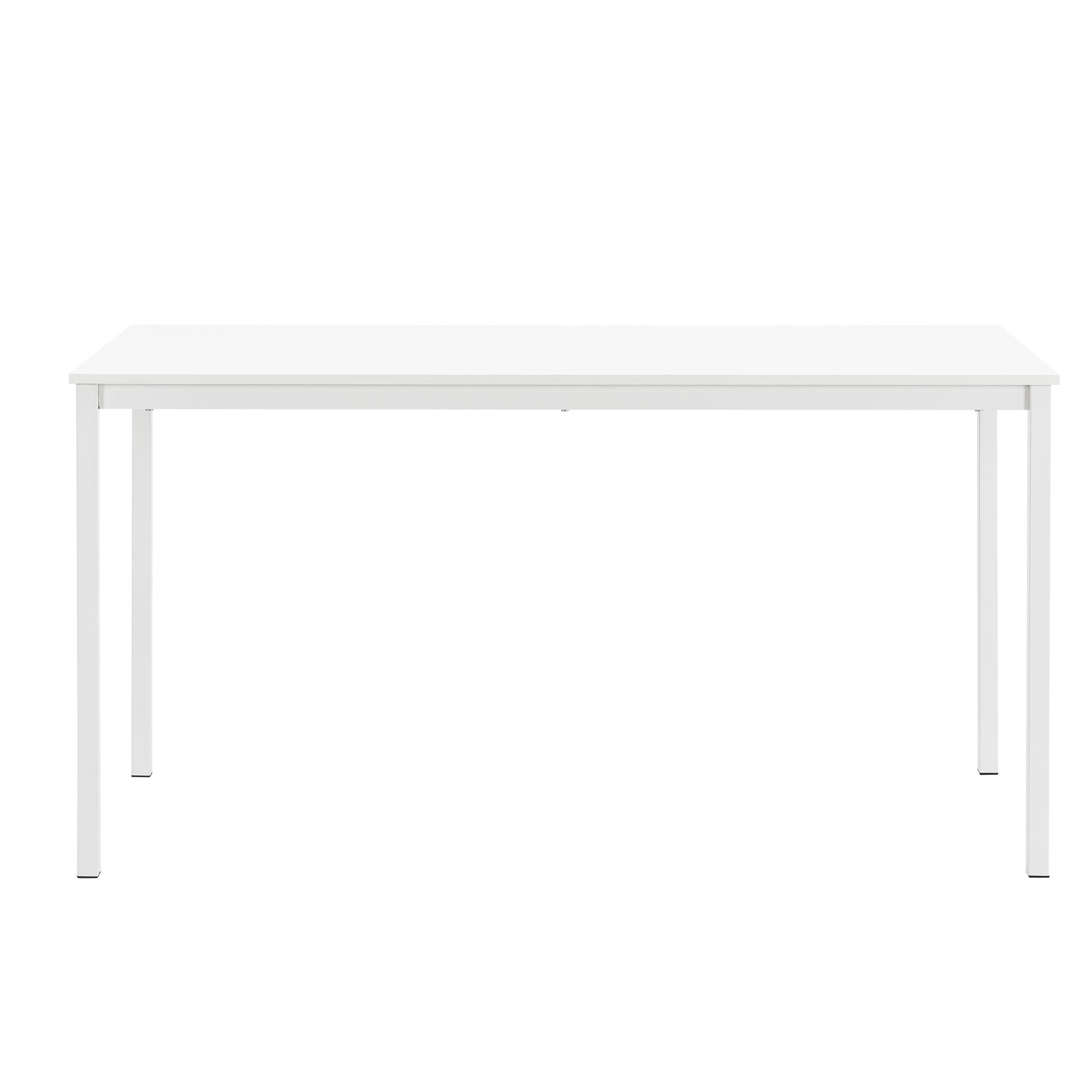 esstisch mit 4 st hlen wei 140x60cm k chentisch esszimmertisch ebay. Black Bedroom Furniture Sets. Home Design Ideas