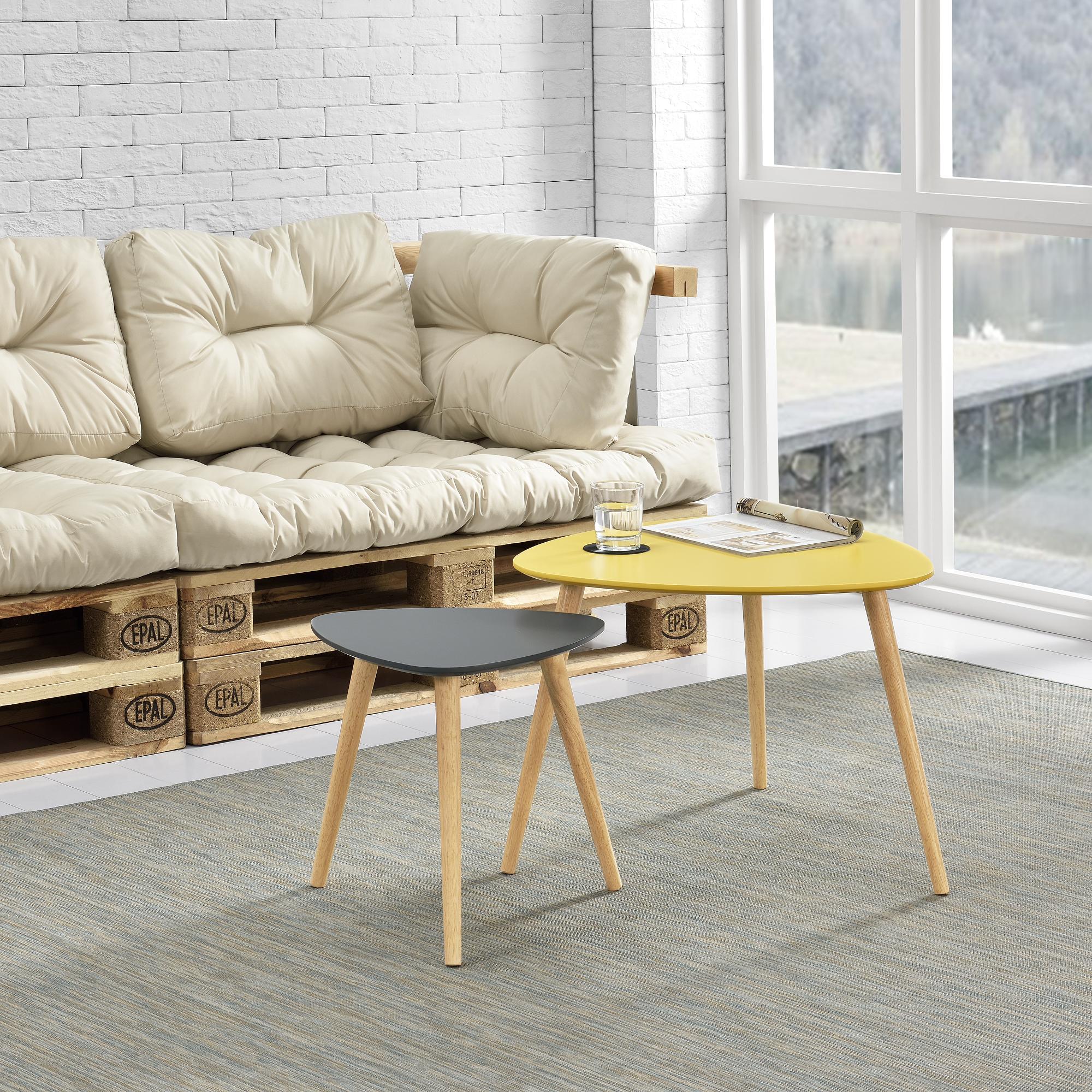 couchtisch 2er set beistelltisch beistell tisch. Black Bedroom Furniture Sets. Home Design Ideas
