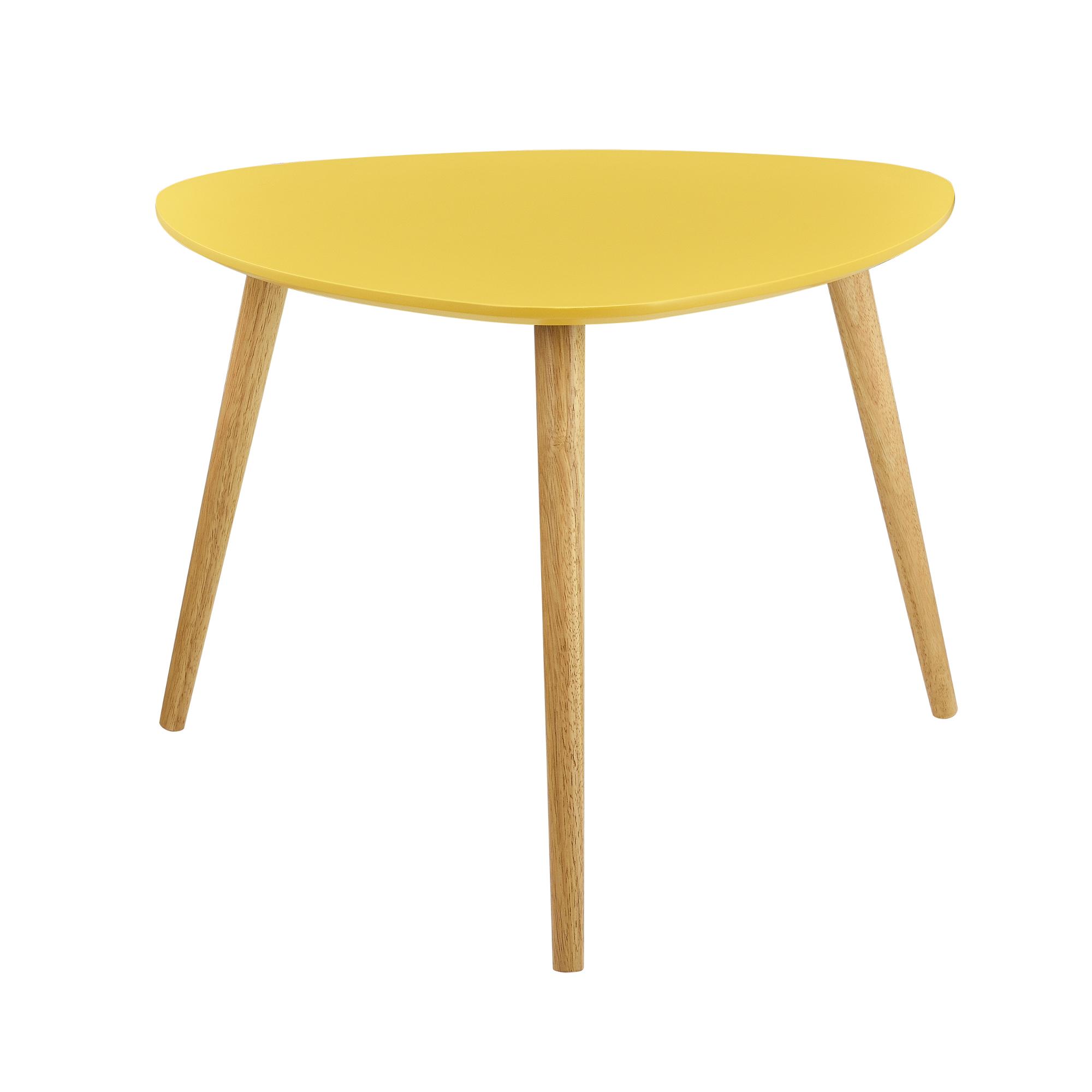 Tavolino da salotto set di 2 color senape for Tavolo d appoggio