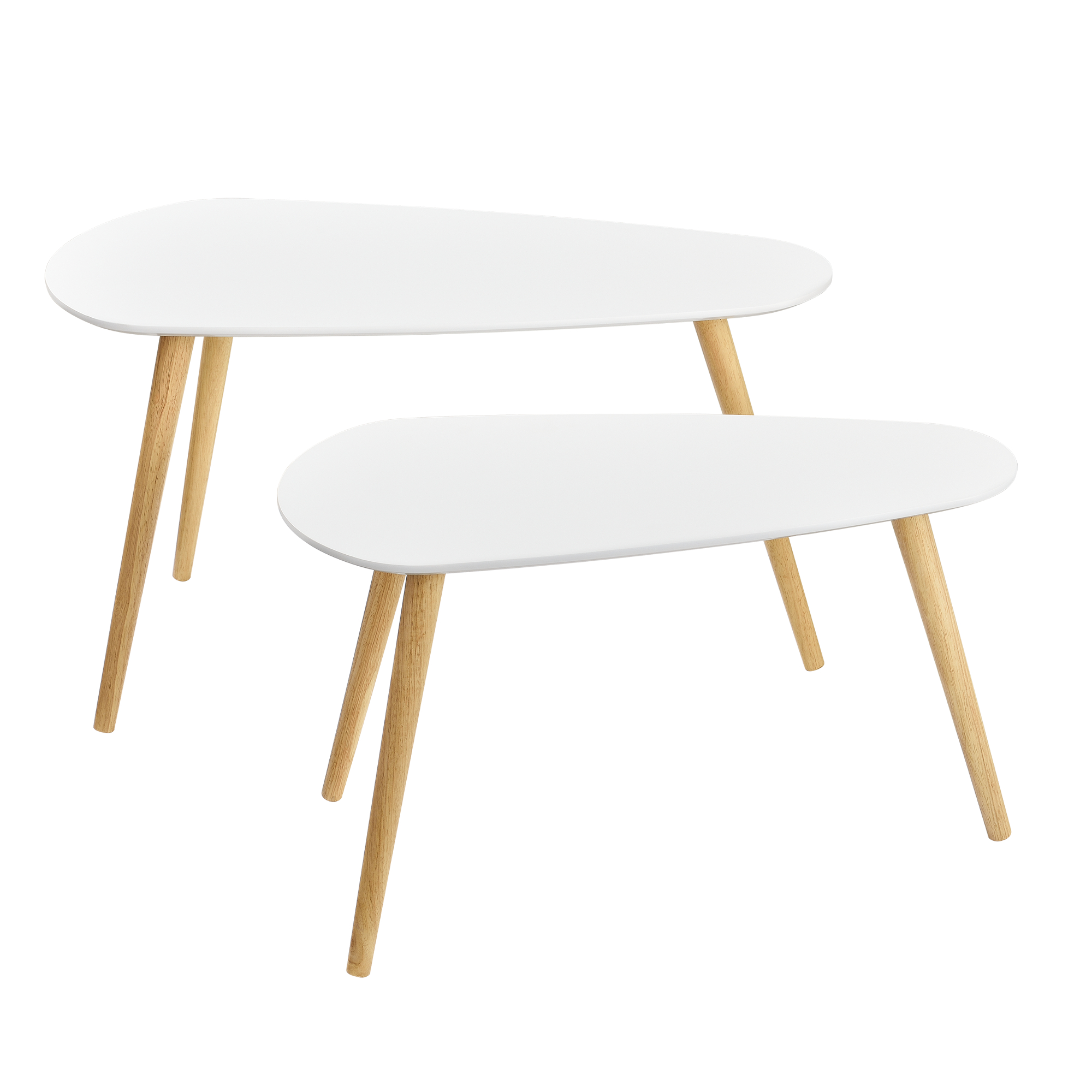 Couchtisch 2er set beistelltisch beistell tisch for Weiss wohnzimmer tische