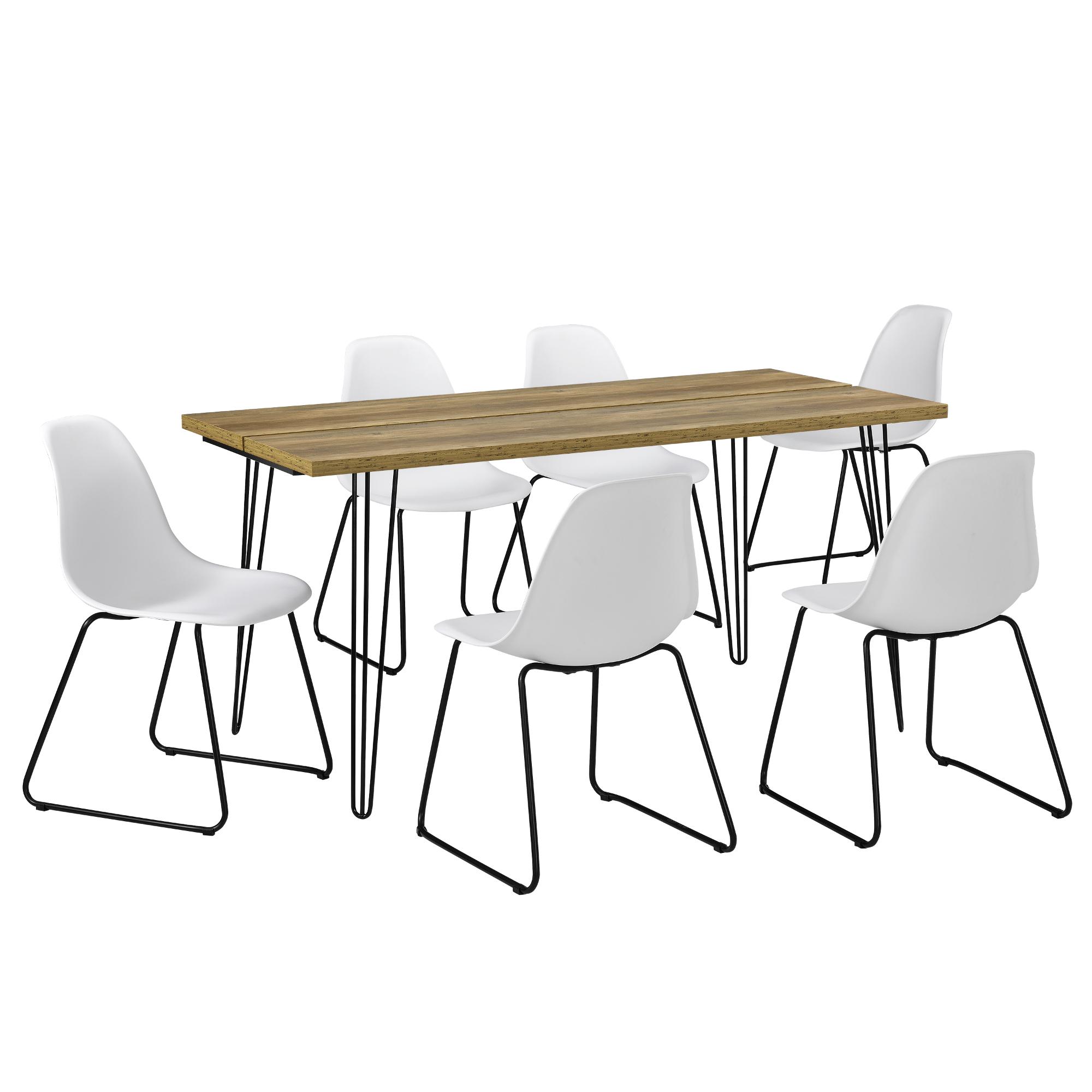 [en.casa]® Jídelní stůl AANT-0311 - barva dřeva