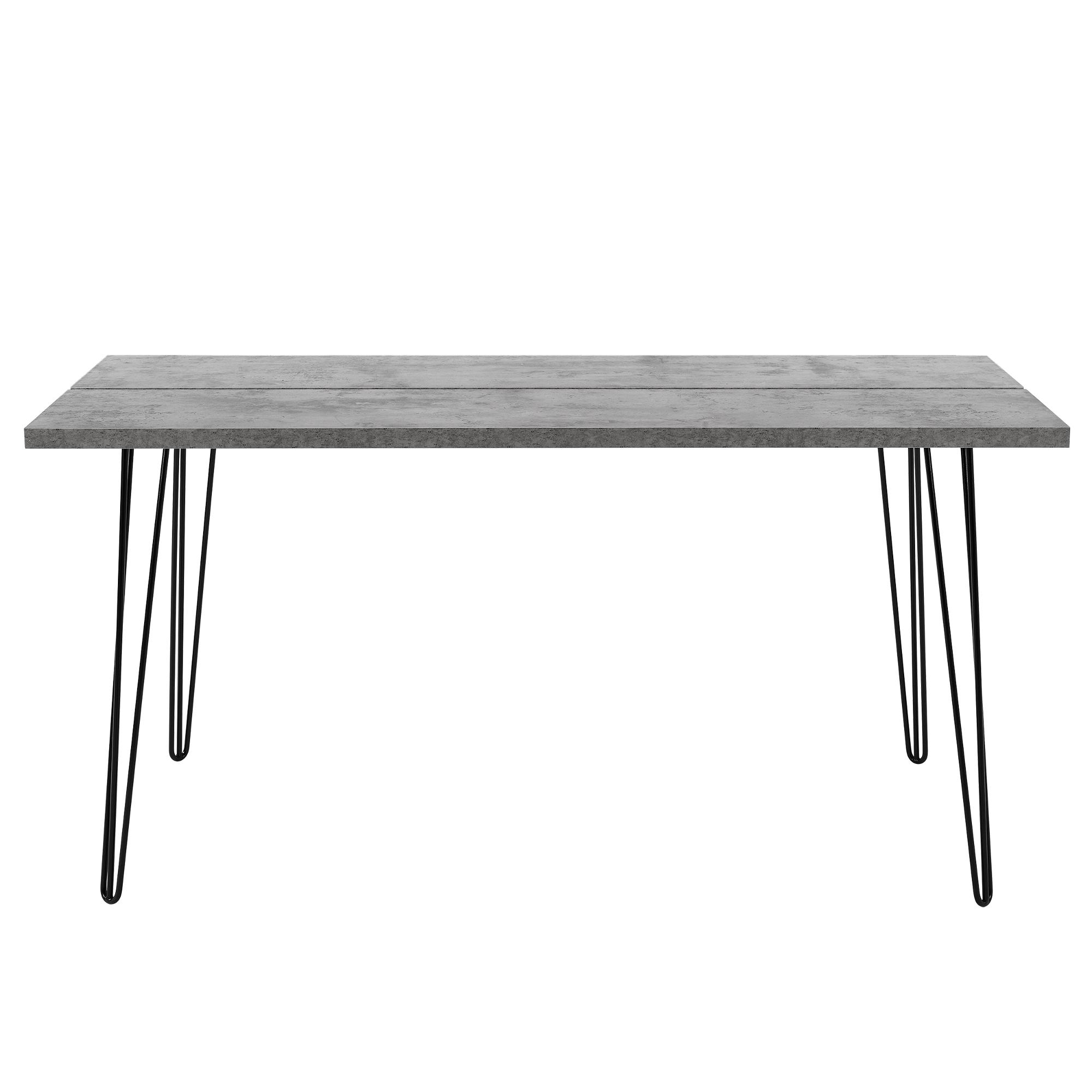 esstisch 160x75cm k chentisch esszimmer tisch hairpin legs beton optik 4059438998959. Black Bedroom Furniture Sets. Home Design Ideas