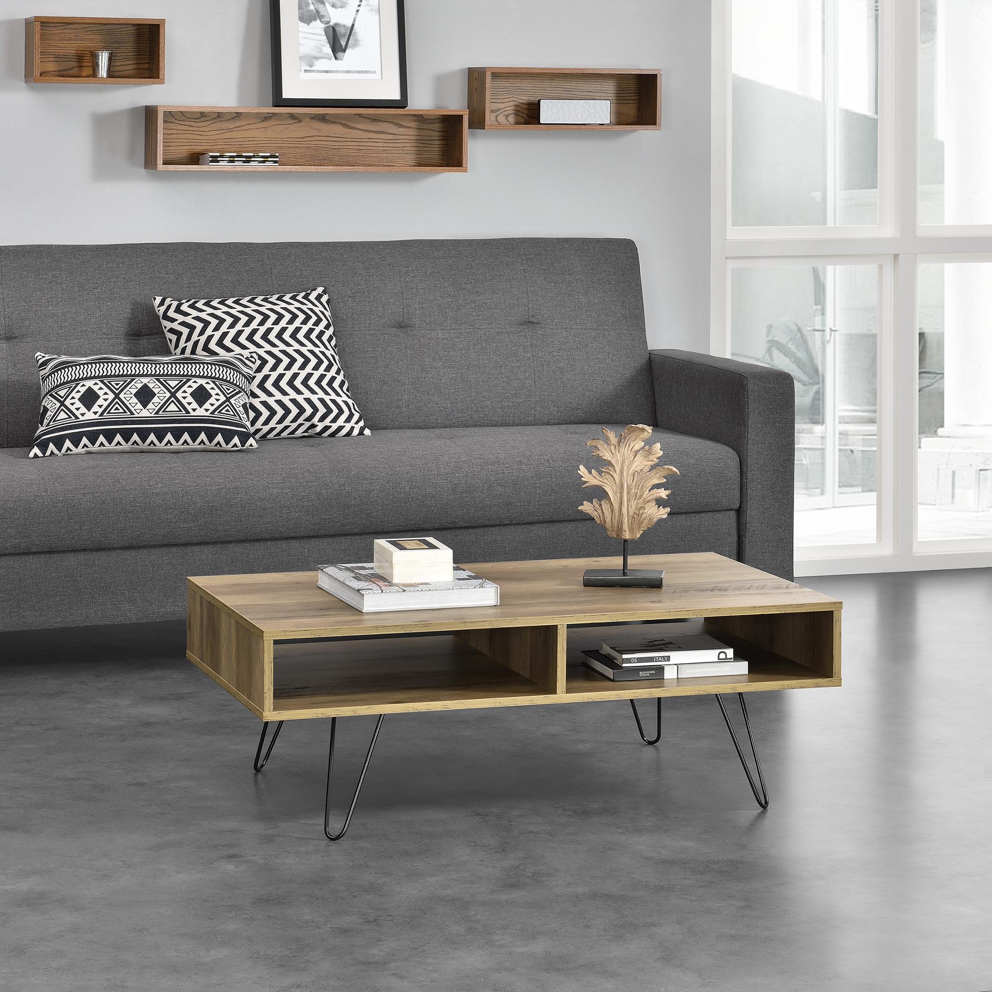 couchtisch 100x60x35cm wohnzimmertisch beistelltisch holz optik mdf ebay. Black Bedroom Furniture Sets. Home Design Ideas