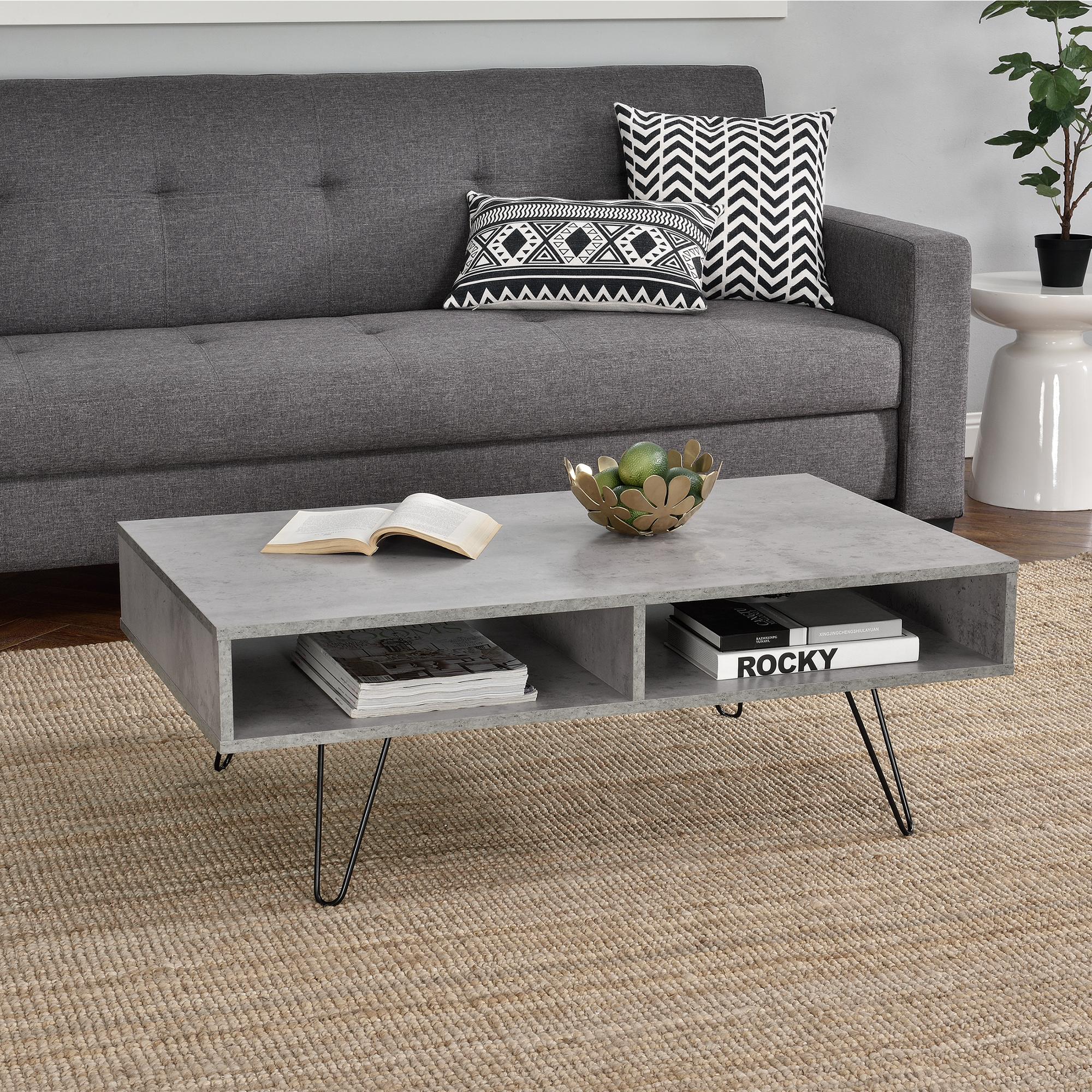 couchtisch 100x60x35cm wohnzimmertisch beistelltisch beton optik mdf ebay. Black Bedroom Furniture Sets. Home Design Ideas