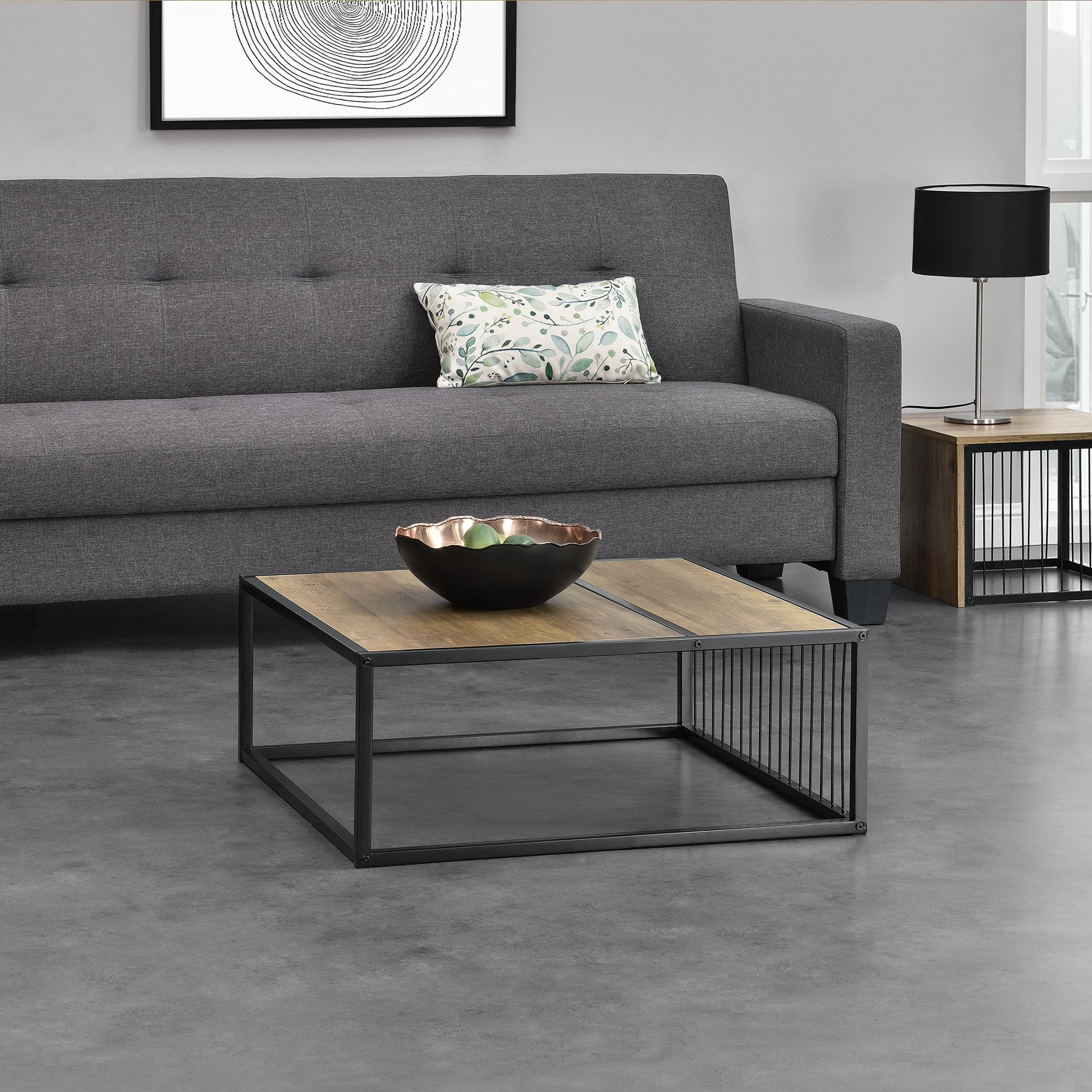 en.casa] Tavolino da Salotto Design 75x75x30cm MDF Effetto Legno ...
