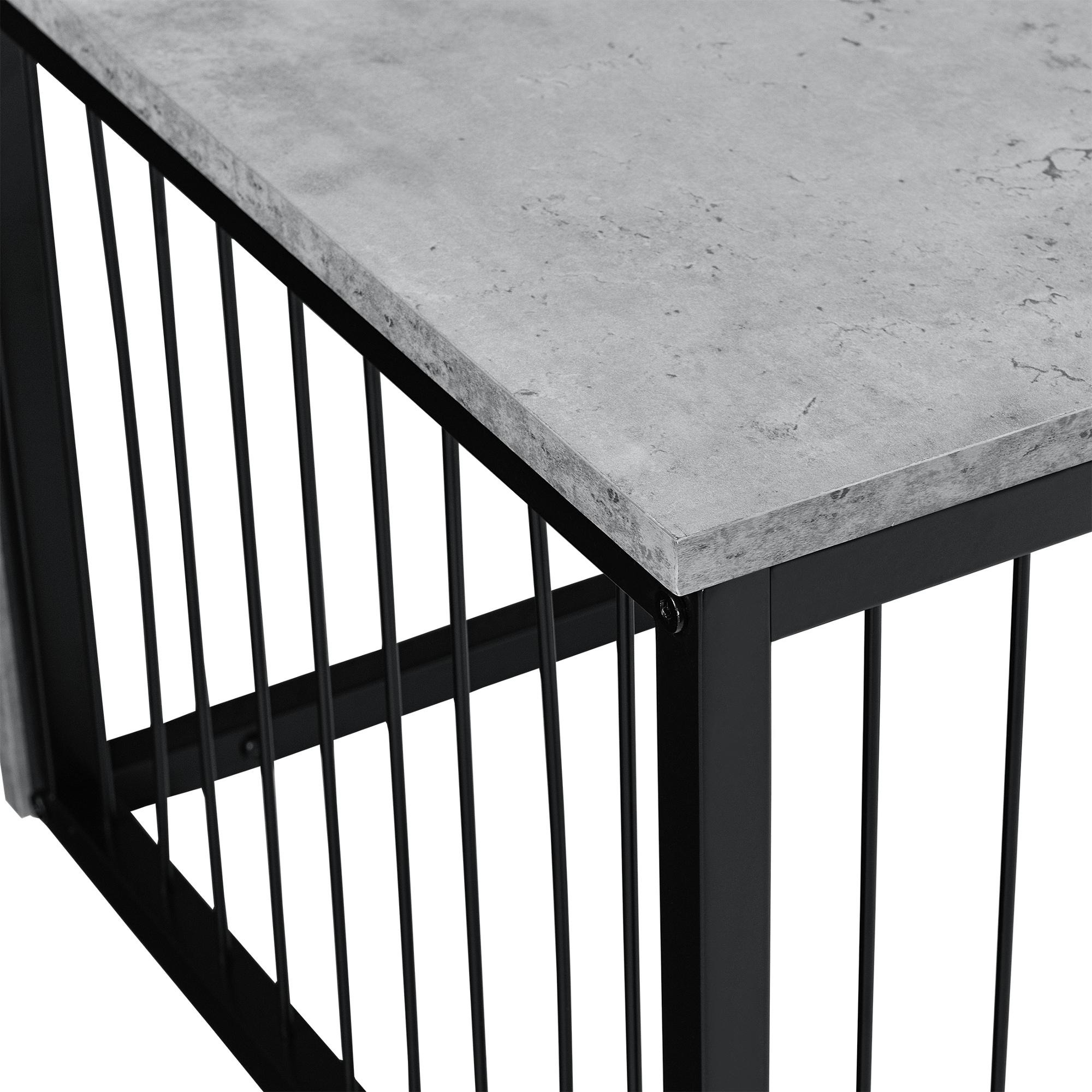 beistelltisch 45x45x35cm couchtisch betonoptik nachttisch konsole ebay. Black Bedroom Furniture Sets. Home Design Ideas