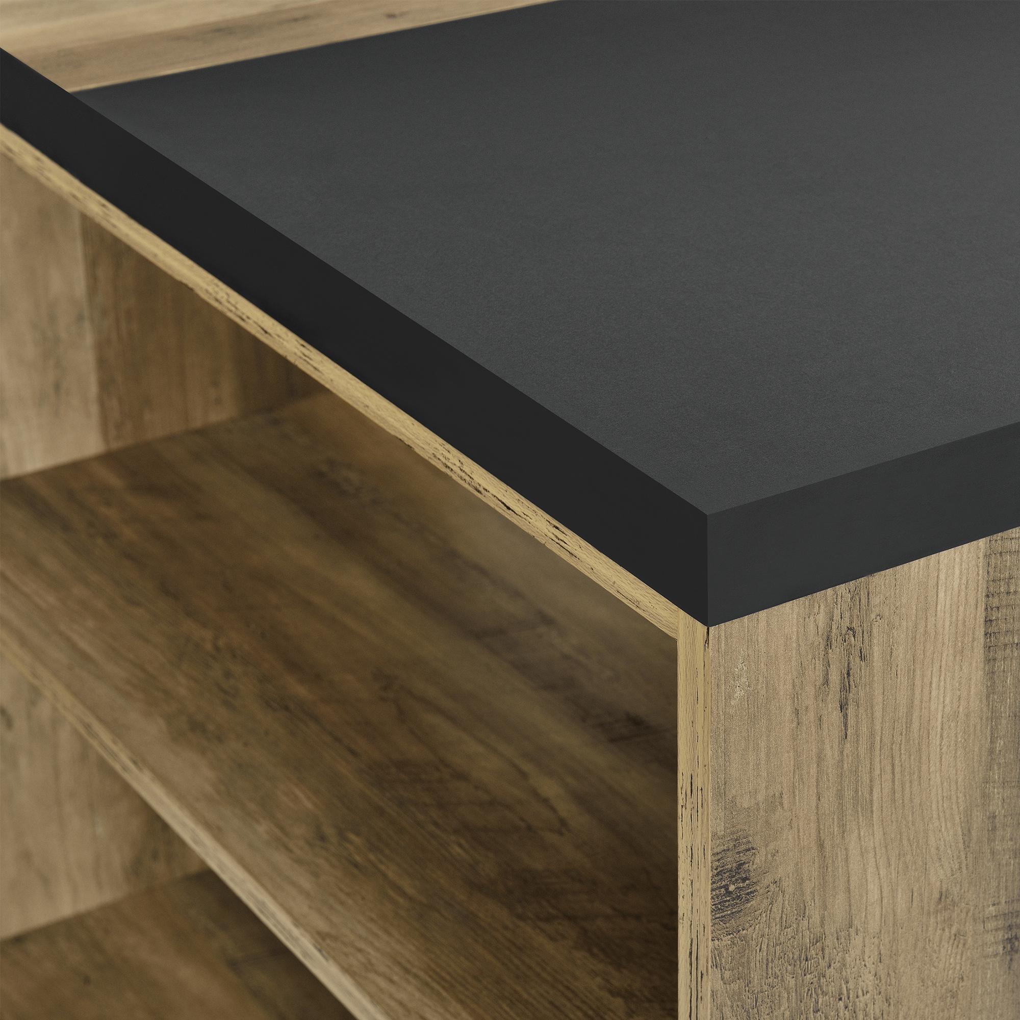 en.casa ® Schreibtisch 140x68x77cm Bürotisch Arbeitszimmer Ablagefach Fächer