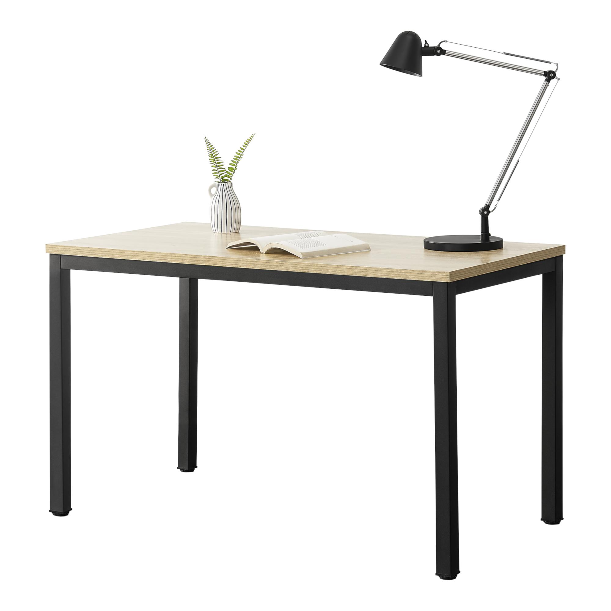 Mesa Escritorio Odense Escritorio de Ordenador 75 x 120 x 60 cm Mesa para j/óvenes Mesa de Oficina Mesa de Trabajo Negro y Color Roble en.casa