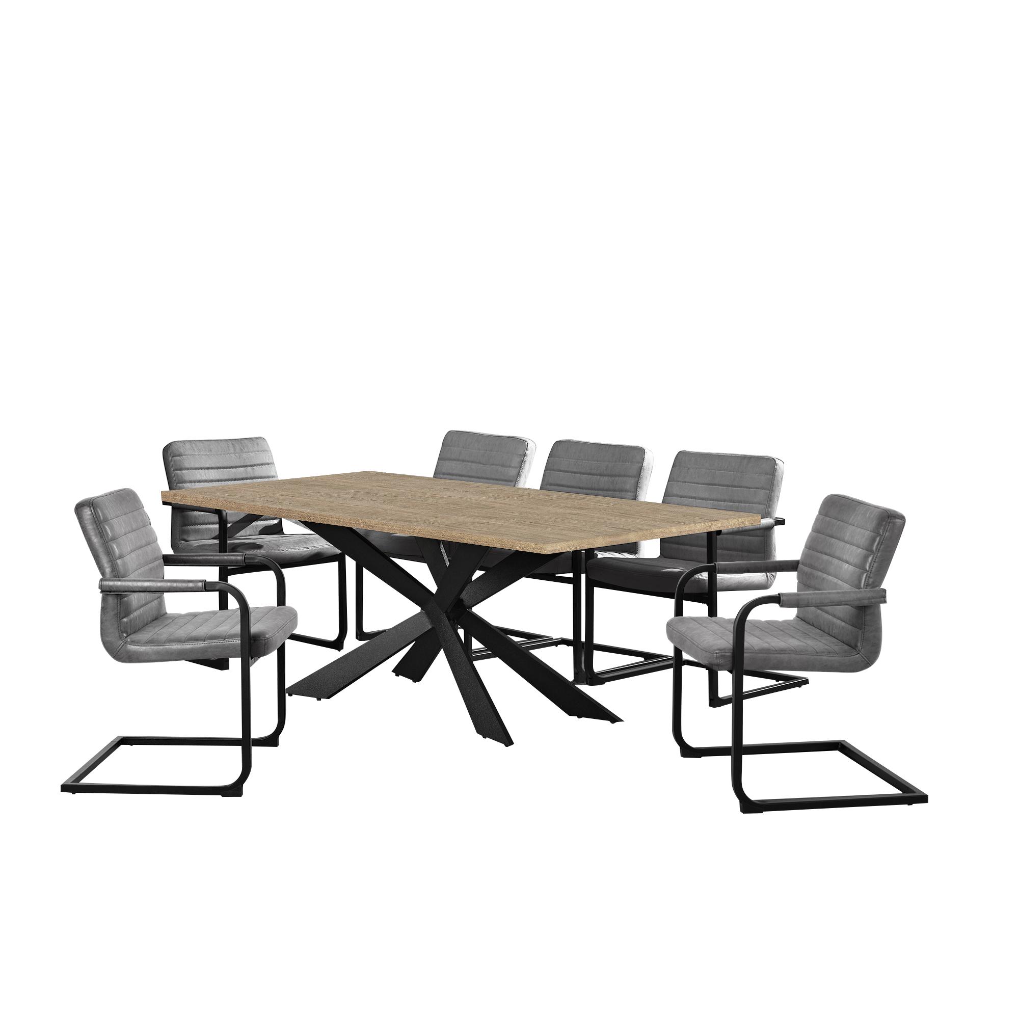 Table de salle manger ch ne mit 6 chaises for Chaise de salle a manger en chene