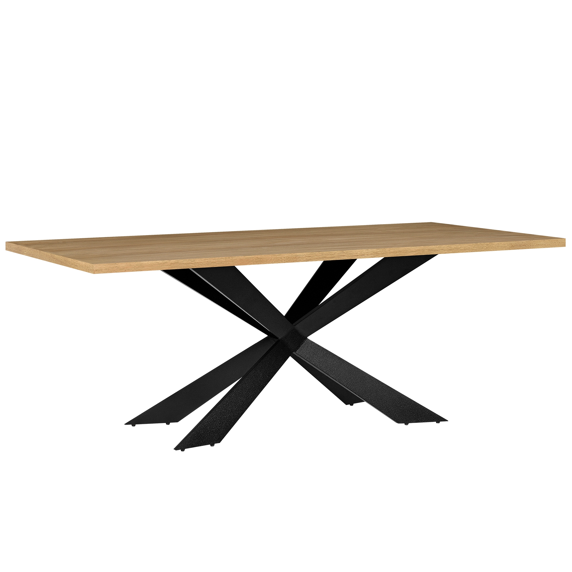 En.casa moderner Esstisch eiche hell 200x100cm rechteckig Tisch ...