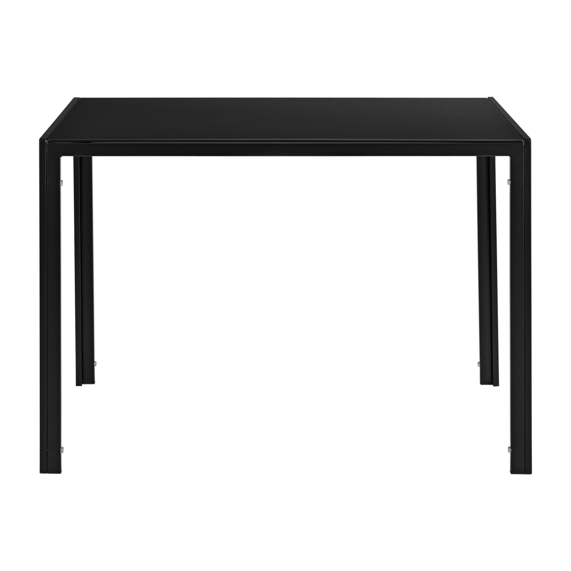esstisch schwarz k chentisch esszimmertisch glas tisch esszimmer ebay. Black Bedroom Furniture Sets. Home Design Ideas