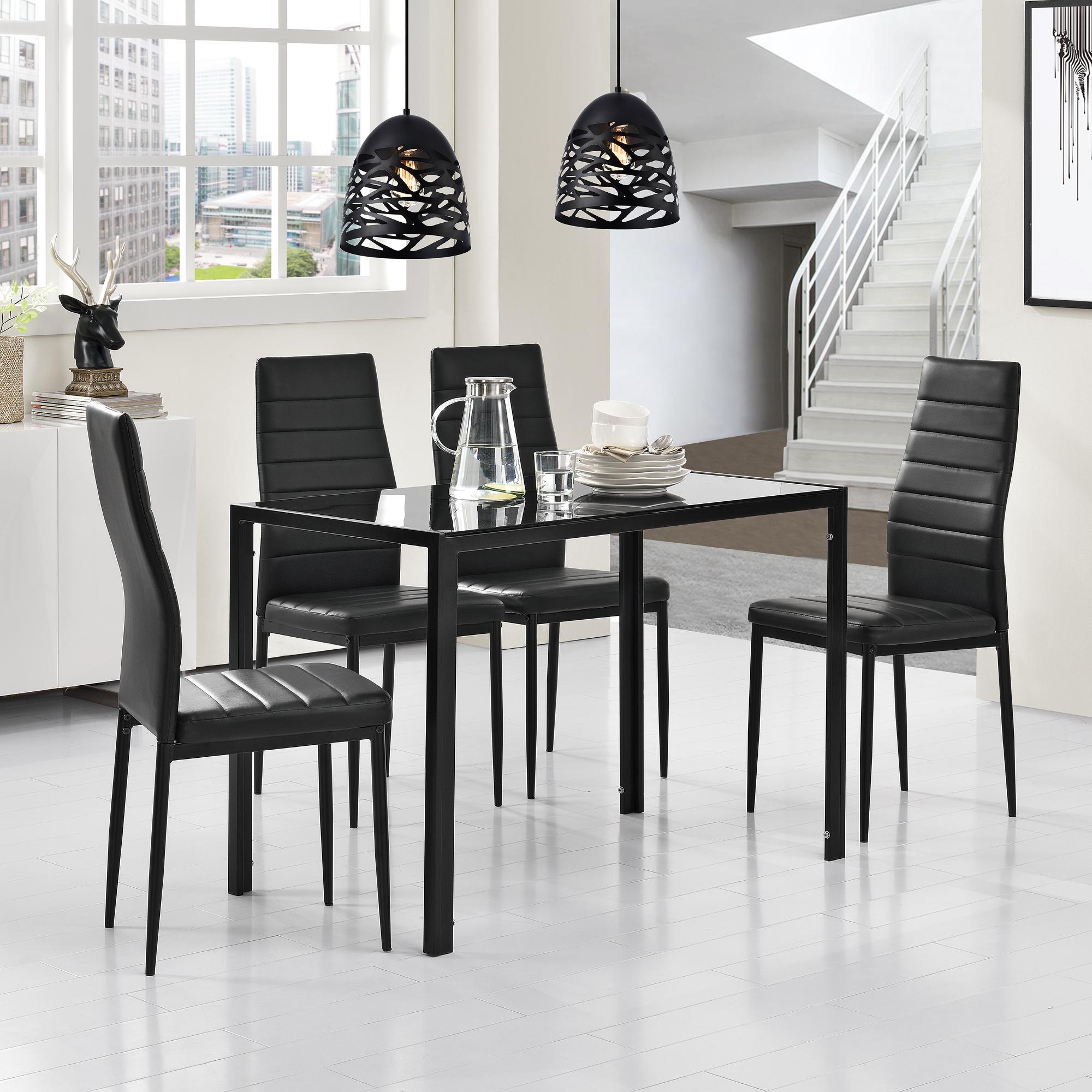 Tavolo da pranzo nero tavolo cucina sala da for Tavolo cucina nero