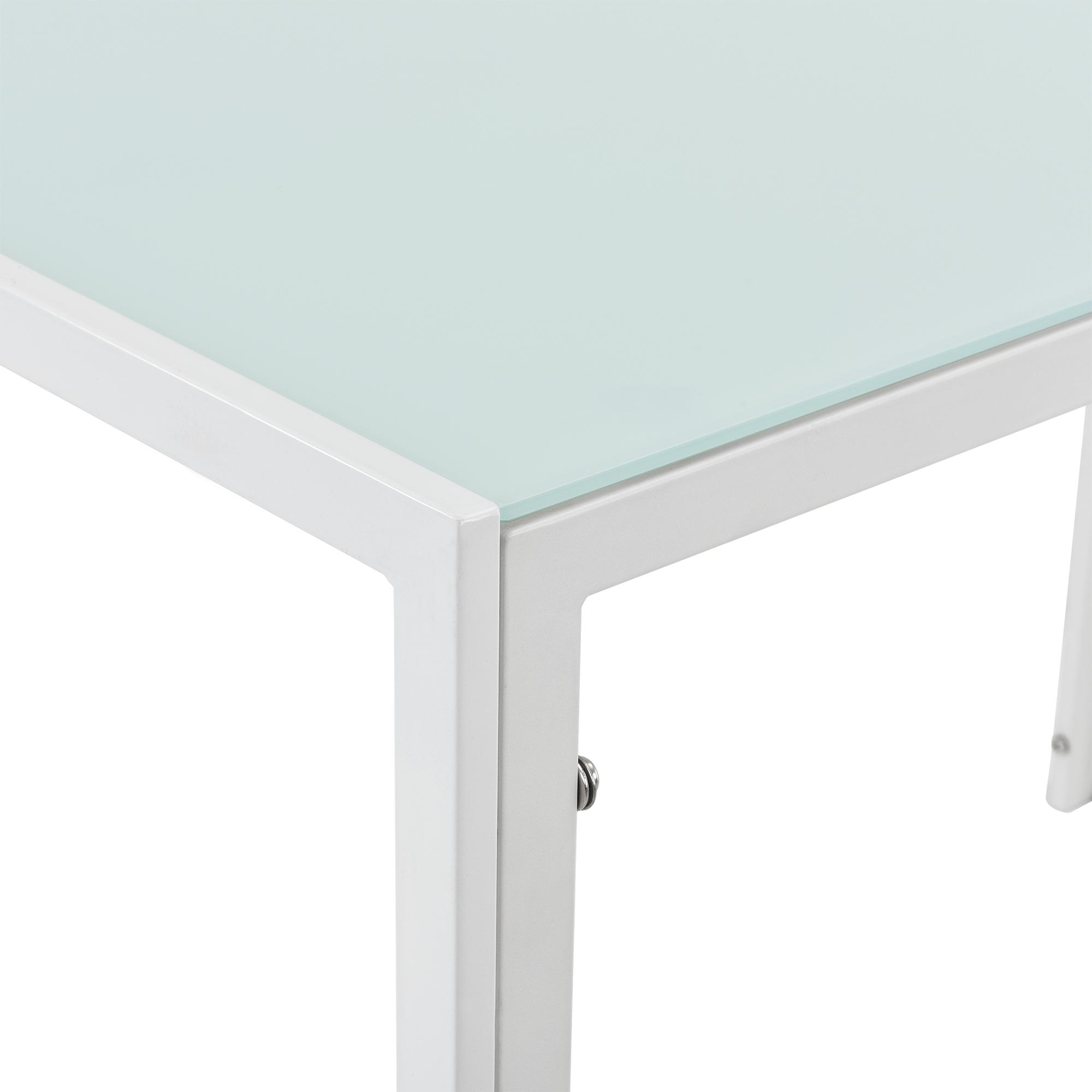 esstisch wei k chentisch esszimmertisch glas tisch esszimmer modern ebay. Black Bedroom Furniture Sets. Home Design Ideas