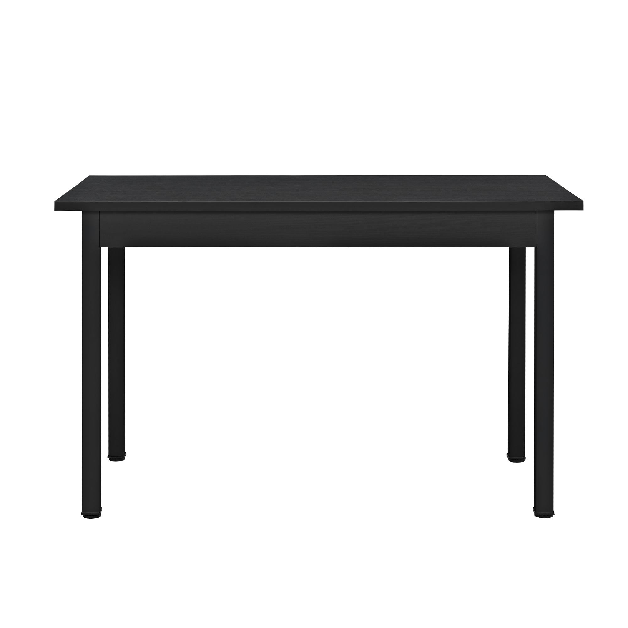 esstisch mit 4 st hlen schwarz 120x60cm k chentisch esszimmertisch ebay. Black Bedroom Furniture Sets. Home Design Ideas