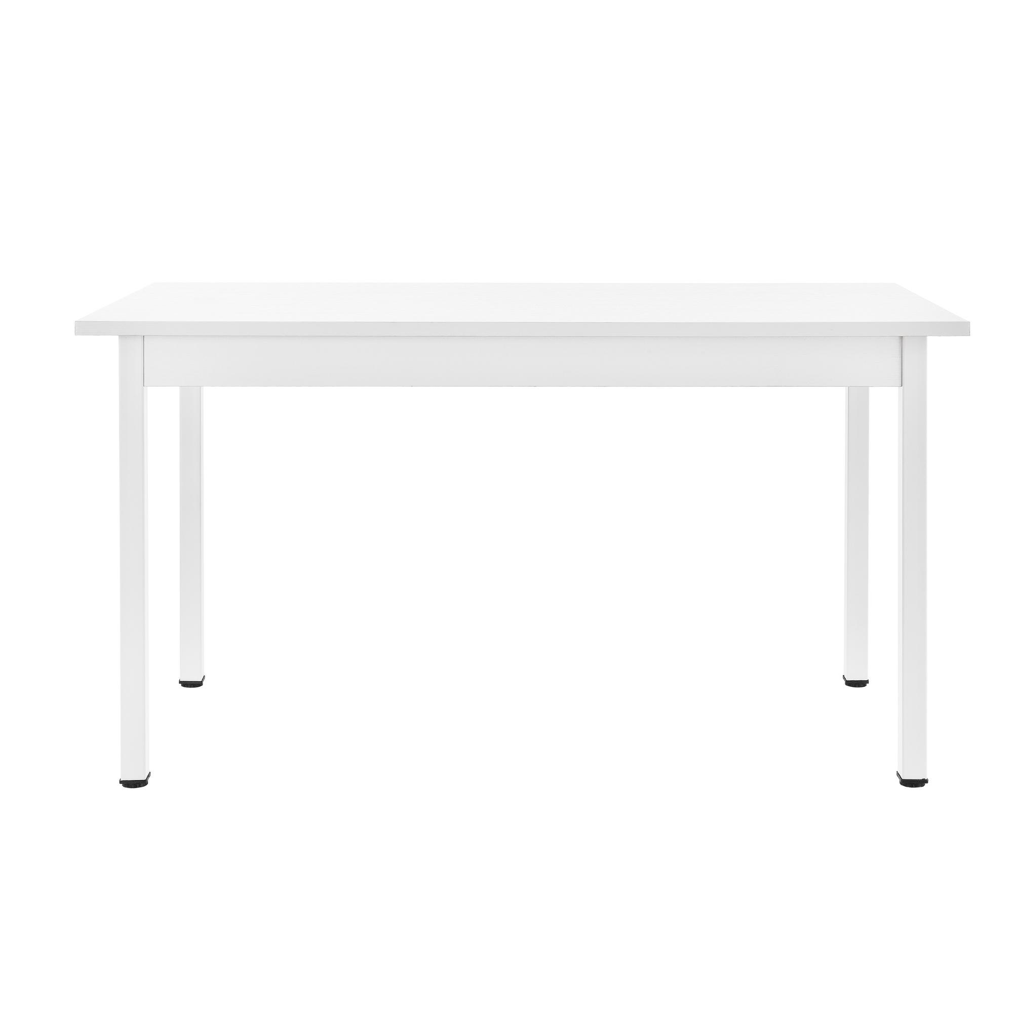 Tavolo da pranzo 6 sedie biance 140x60cm sedie con maniglia cucina ebay - Tavolo pieghevole con maniglia ...