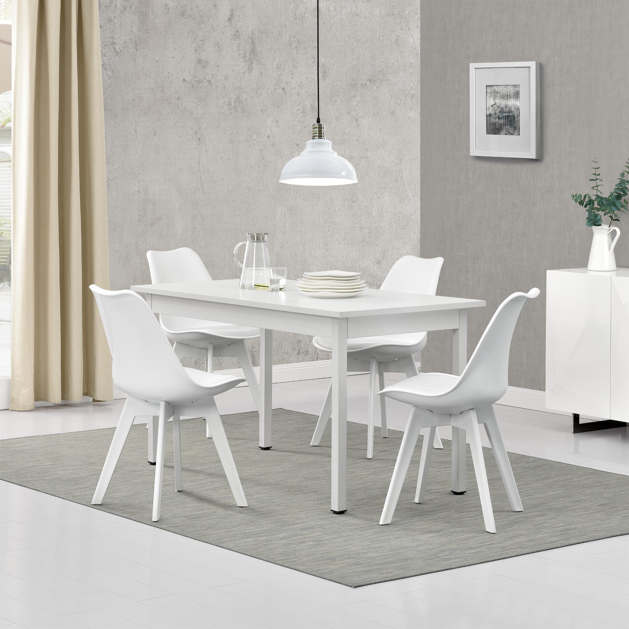 4 chaises Gris//Noir 140x60cm TABLE de CUISINE salle à manger table ® Table à manger en. casa