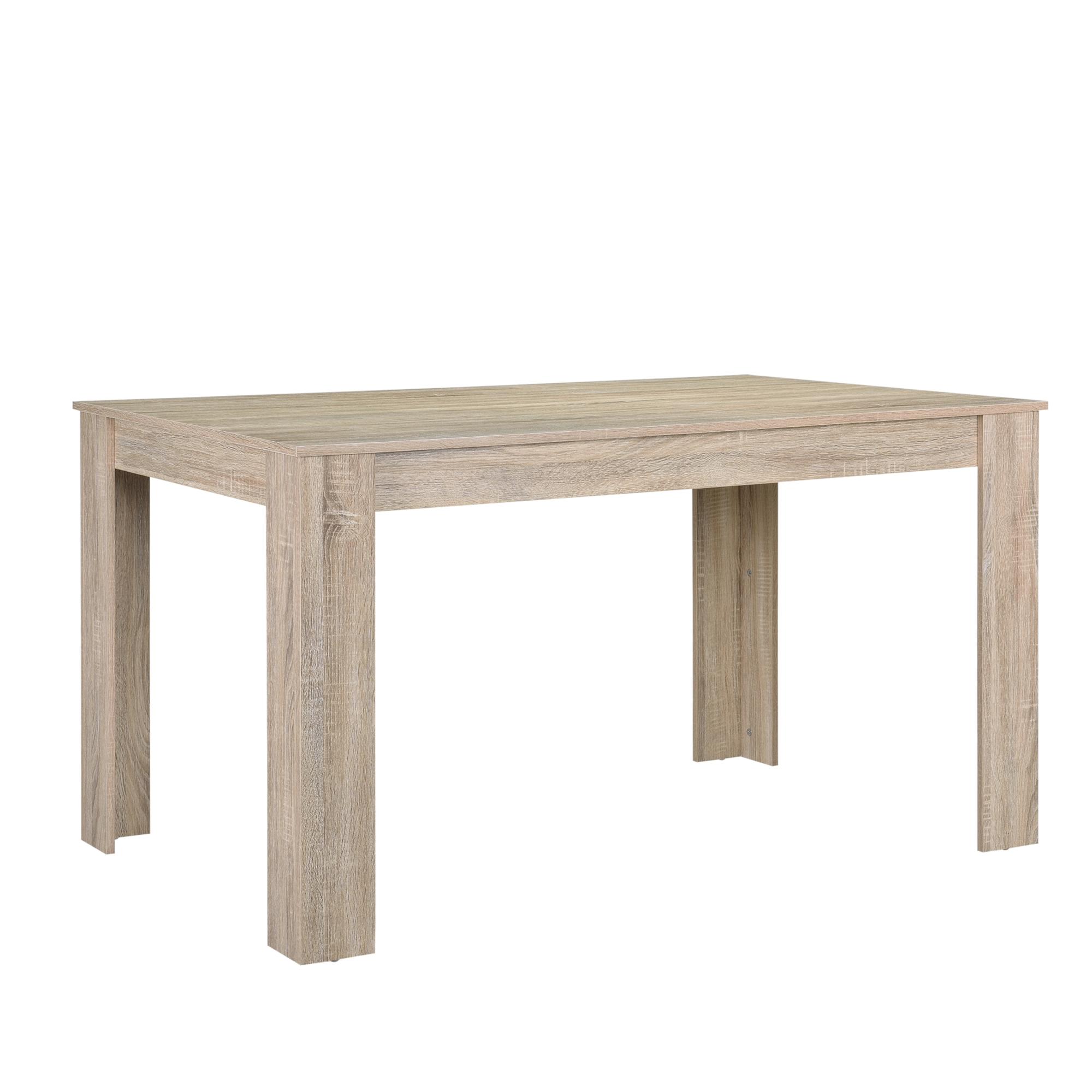 esstisch gek lkte eiche mit 6 st hlen braun 140x90 tisch st hle modern ebay. Black Bedroom Furniture Sets. Home Design Ideas
