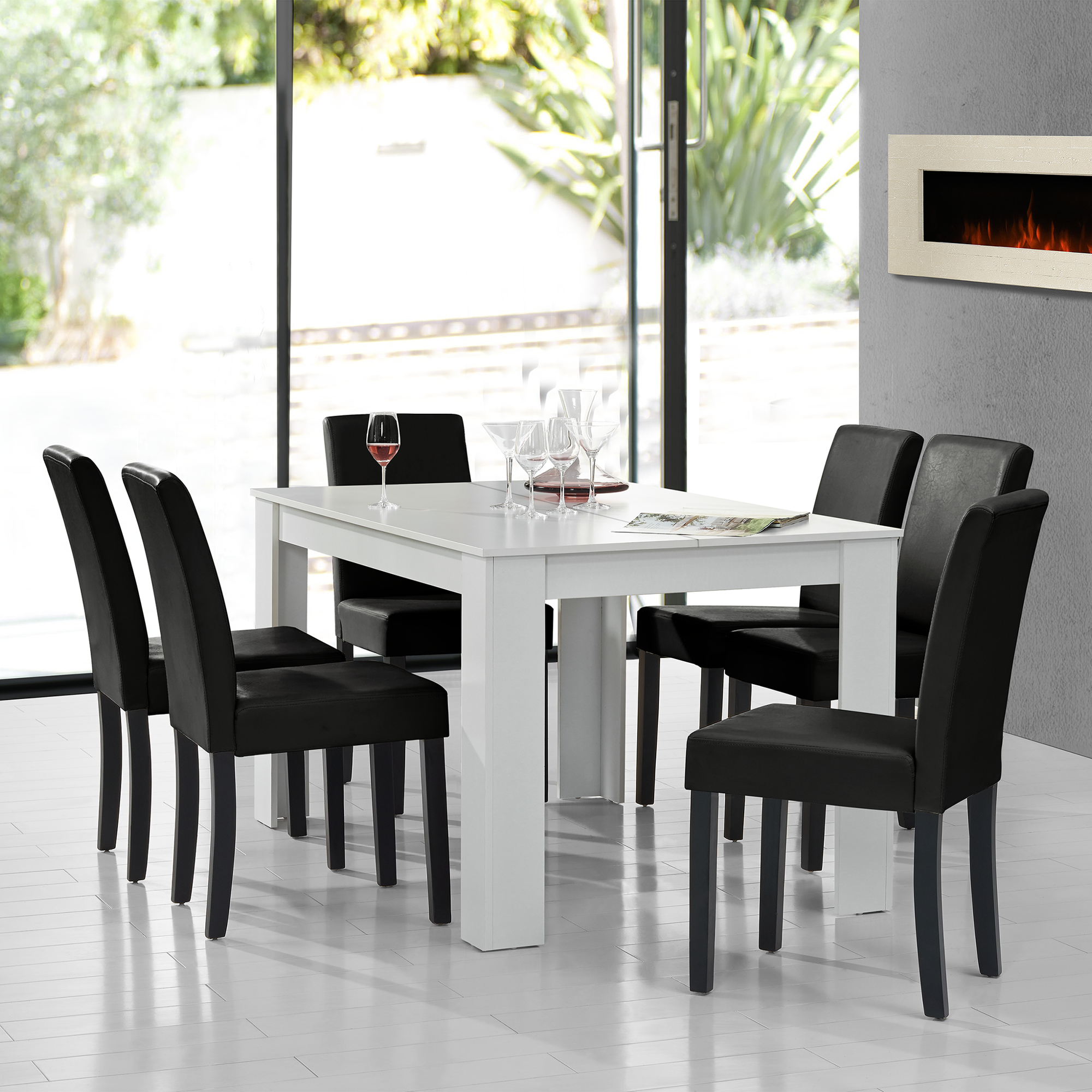 moderner esstisch eiche smoked 180x100cm tisch esszimmer dunkel ebay. Black Bedroom Furniture Sets. Home Design Ideas