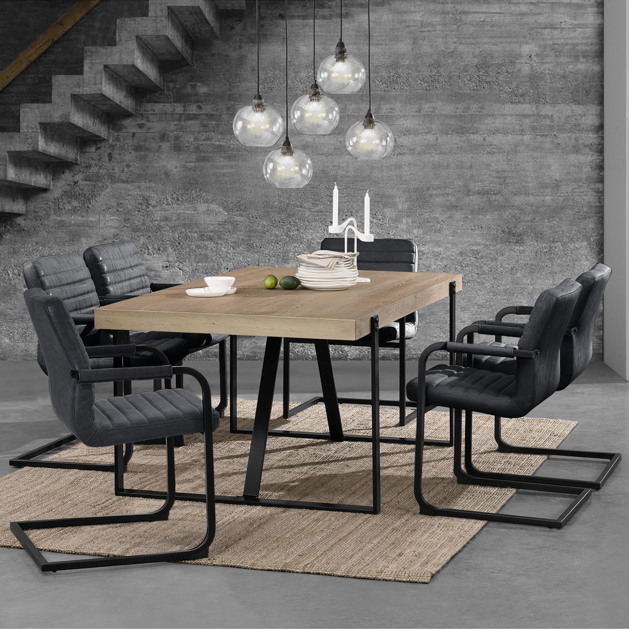 En Casa Esstisch Walnuss Mit 6 Stuhlen 200x100 Tisch Stuhle