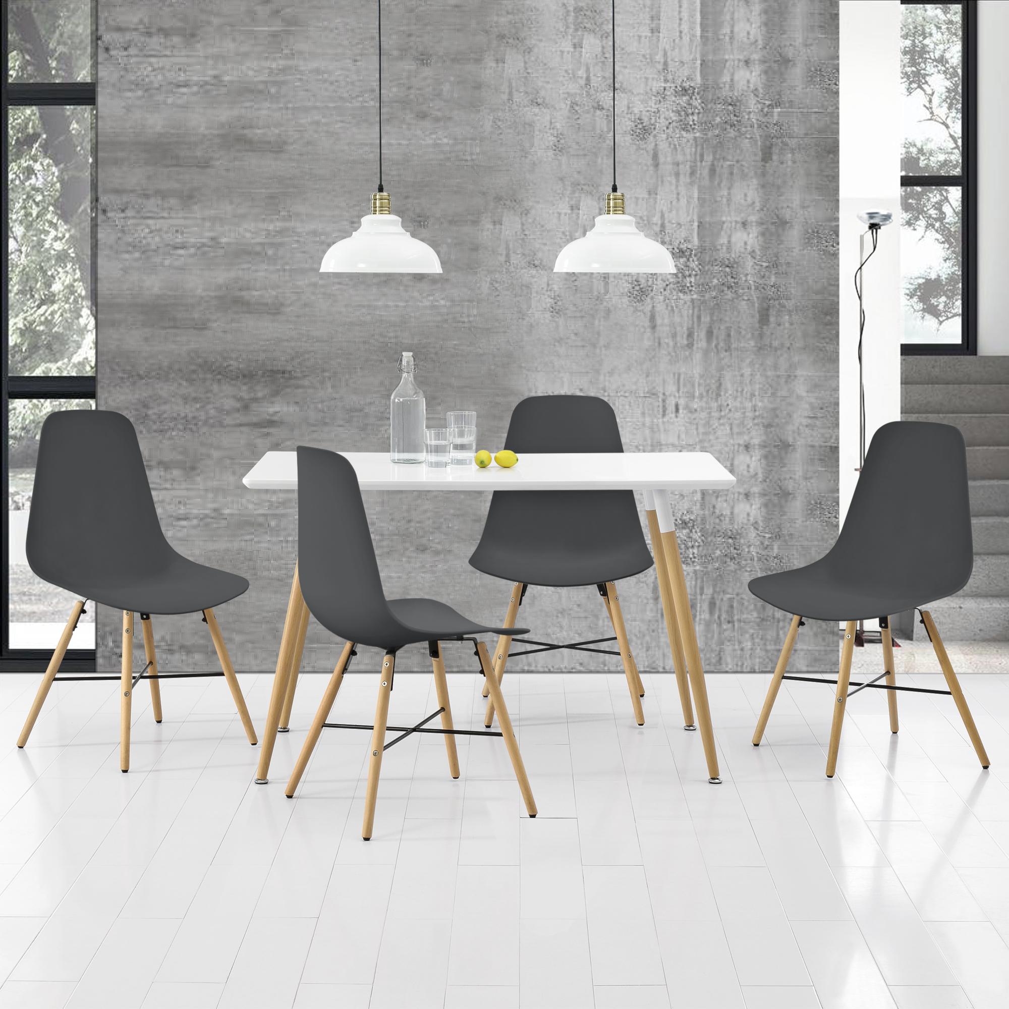 Tavolo Cucina 4 Sedie.En Casa Tavolo Da Pranzo Con 4 Sedie Bianco Grigio 120x70cm
