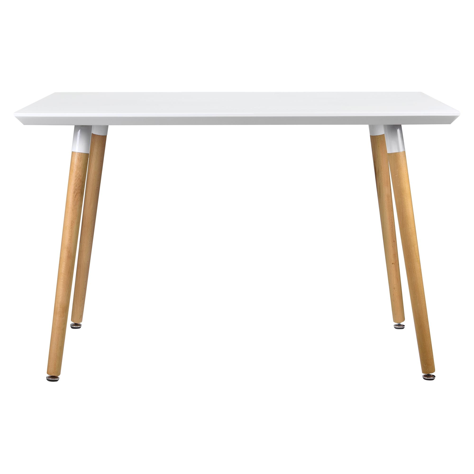 Tavolo da pranzo 120x80cm bianco opaco rovere for Tavolo rovere bianco