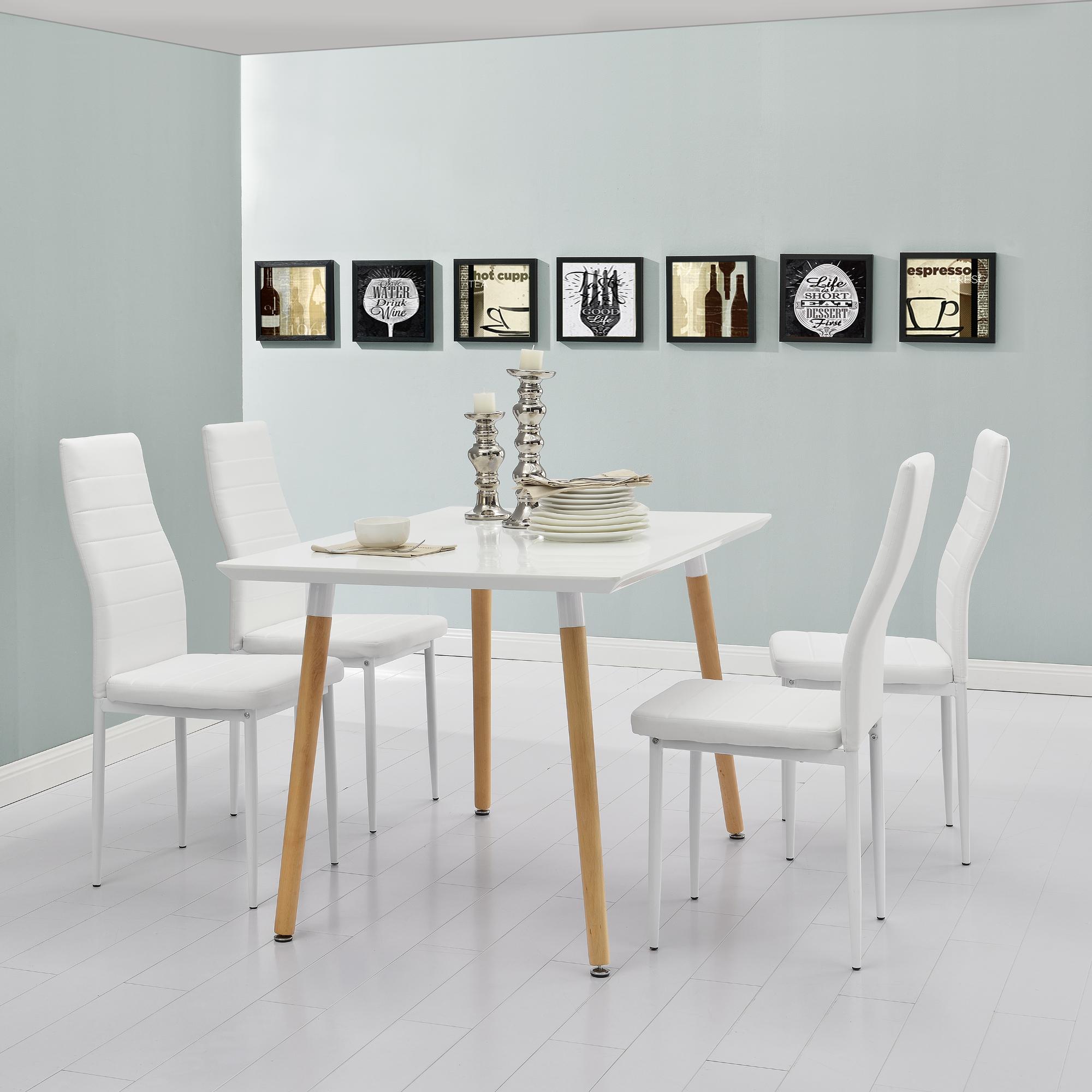 Tavolo da pranzo con 4 sedie bianco 120x70cm tavolo da cucina pranzo ebay - Tavolo cucina 120 x 70 ...