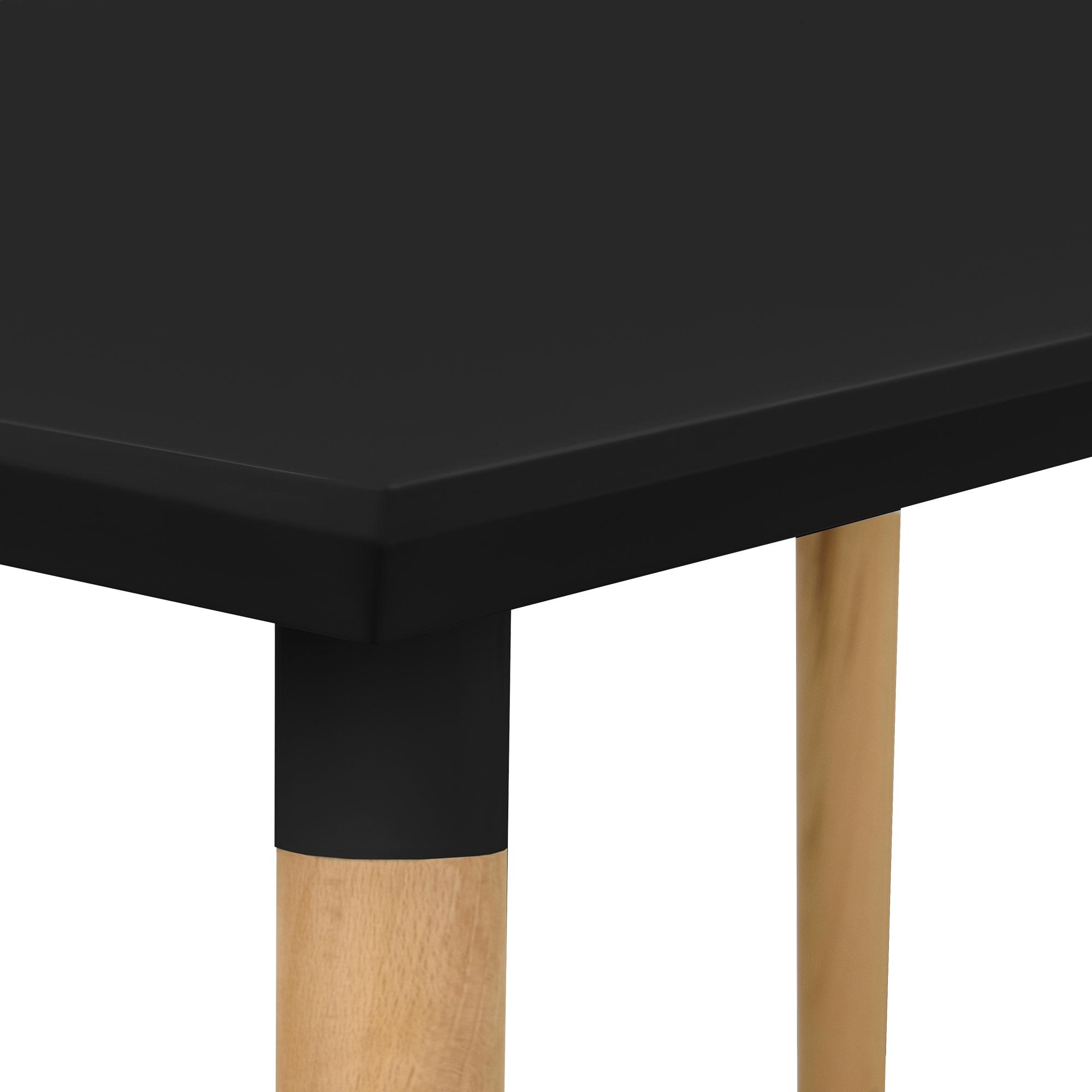 Esstisch Mdf Schwarz ~ [encasa] Moderner Esstisch Tisch Esszimmer Küchentisch Retro Rund Eckig Eiche
