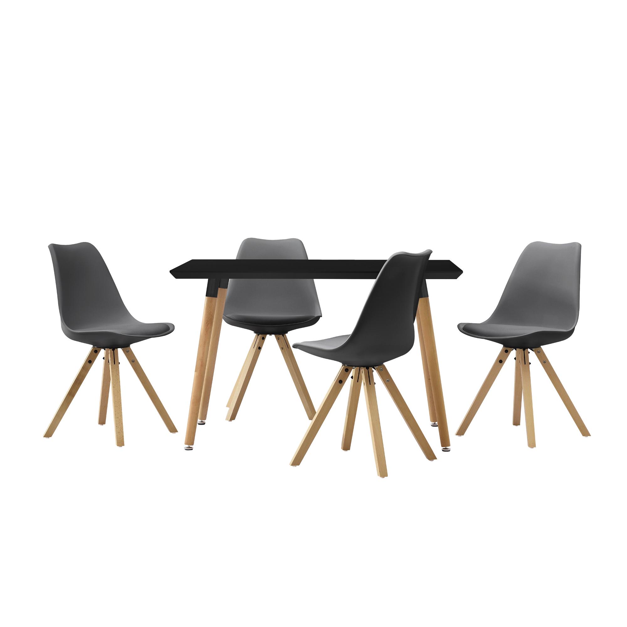 [en.casa]® Esstisch 120x70cm mit Stühlen Küchentisch Esszimmer Tisch Essgruppe 118