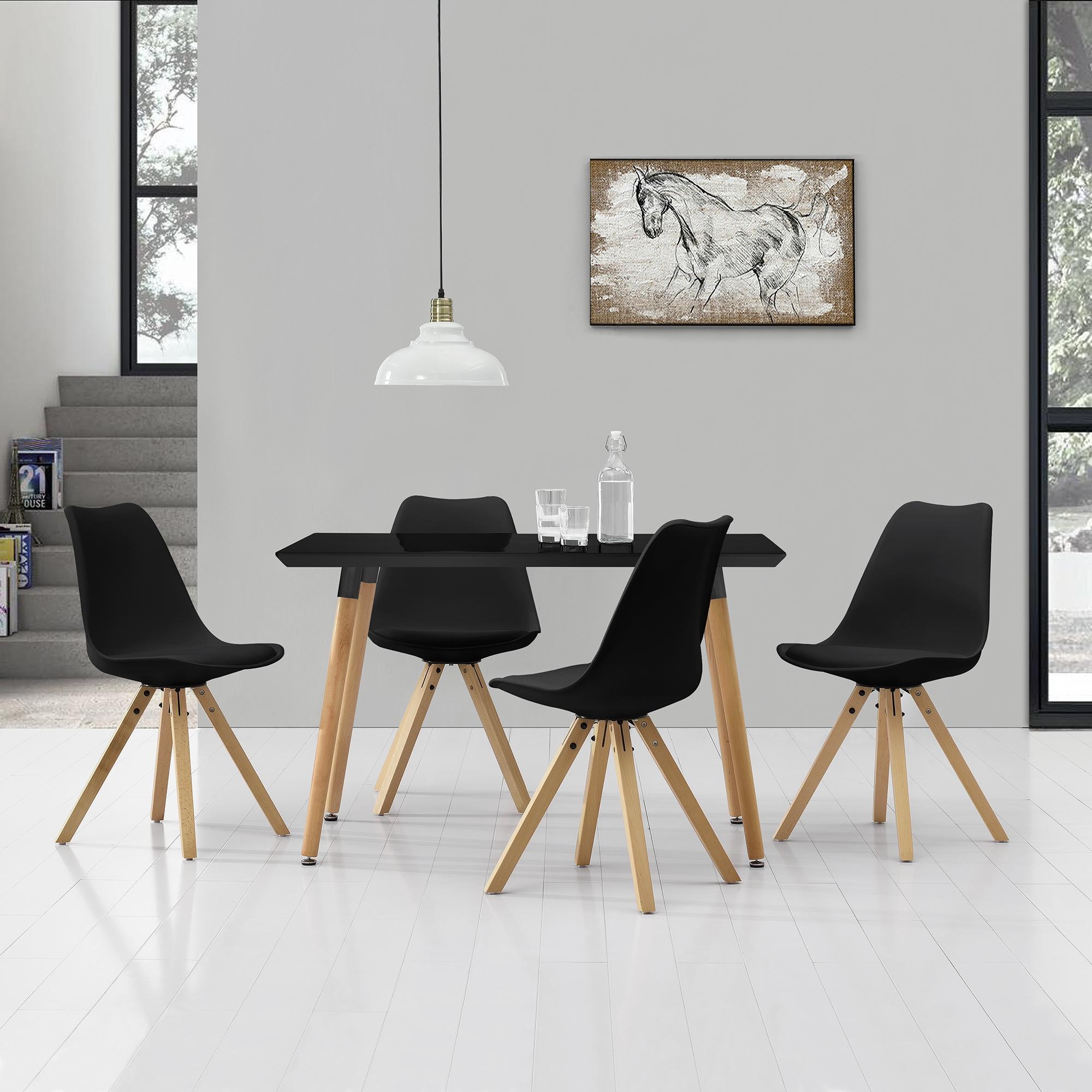 [en.casa]® Esstisch 120x70cm mit Stühlen Küchentisch Esszimmer Tisch Essgruppe 106