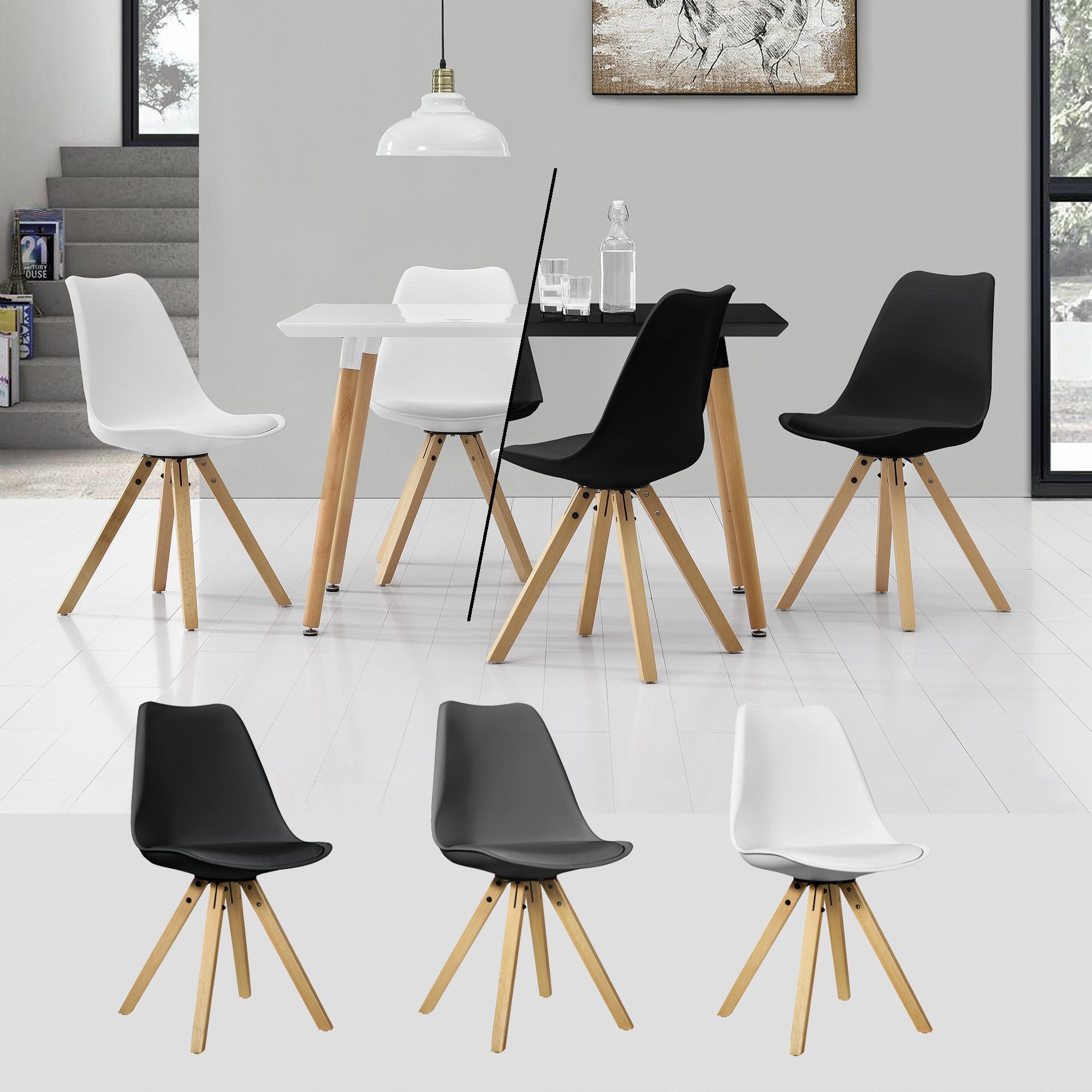 [en.casa]® Esstisch 120x70cm mit Stühlen Küchentisch Esszimmer Tisch Essgruppe 96
