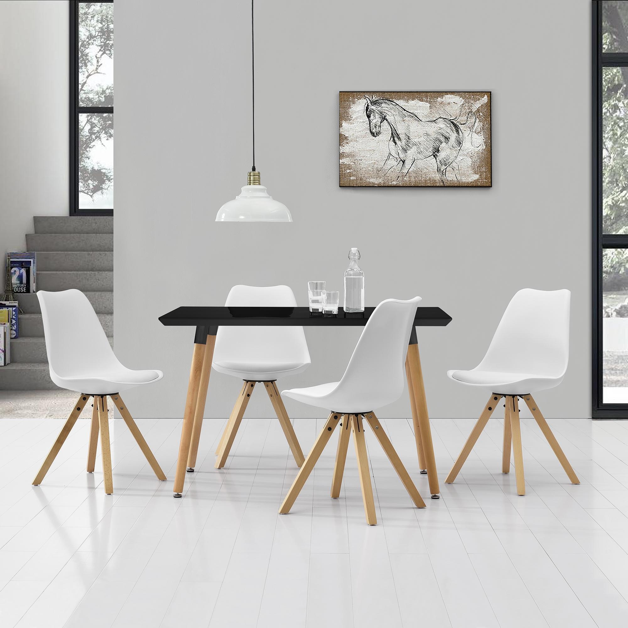 [en.casa]® Esstisch 120x70cm mit Stühlen Küchentisch Esszimmer Tisch Essgruppe 116
