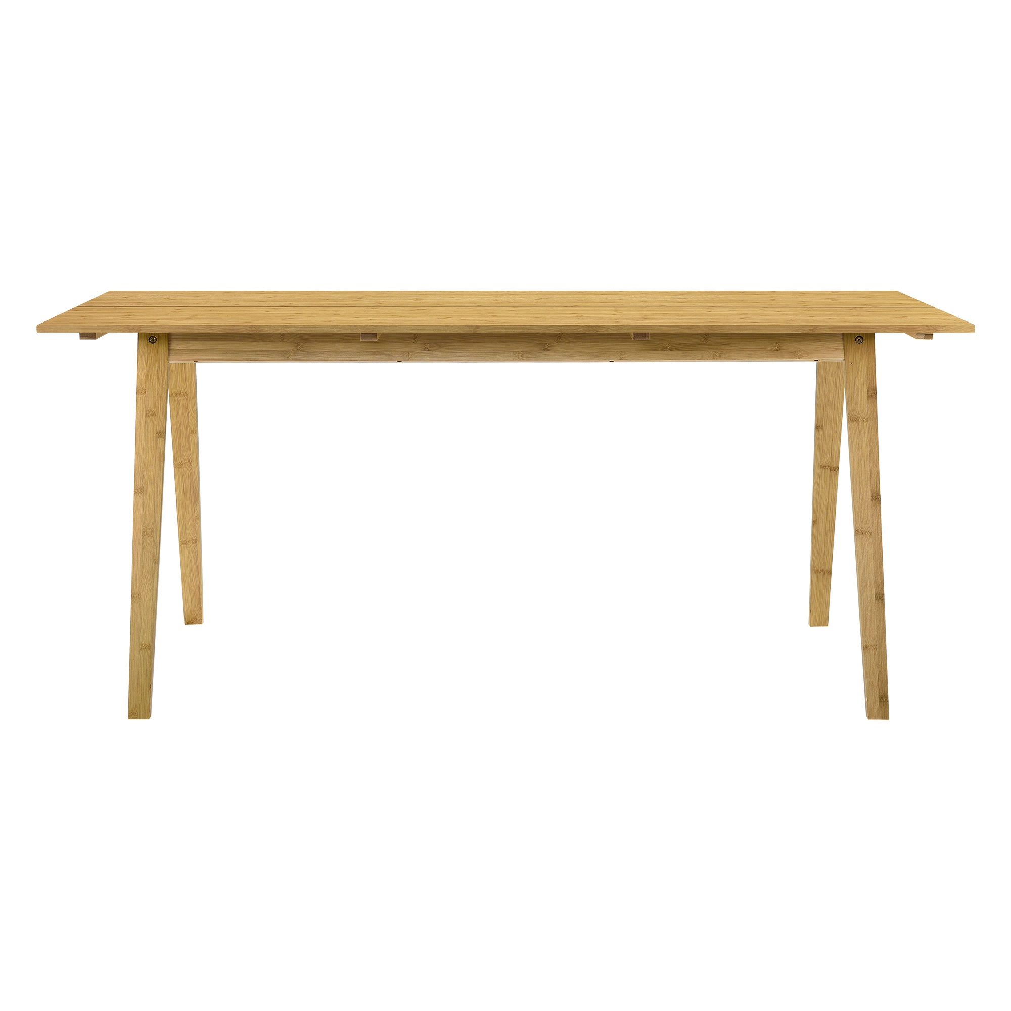 Design table de salle manger bambou 180x80cm for Table salle a manger 80 cm largeur