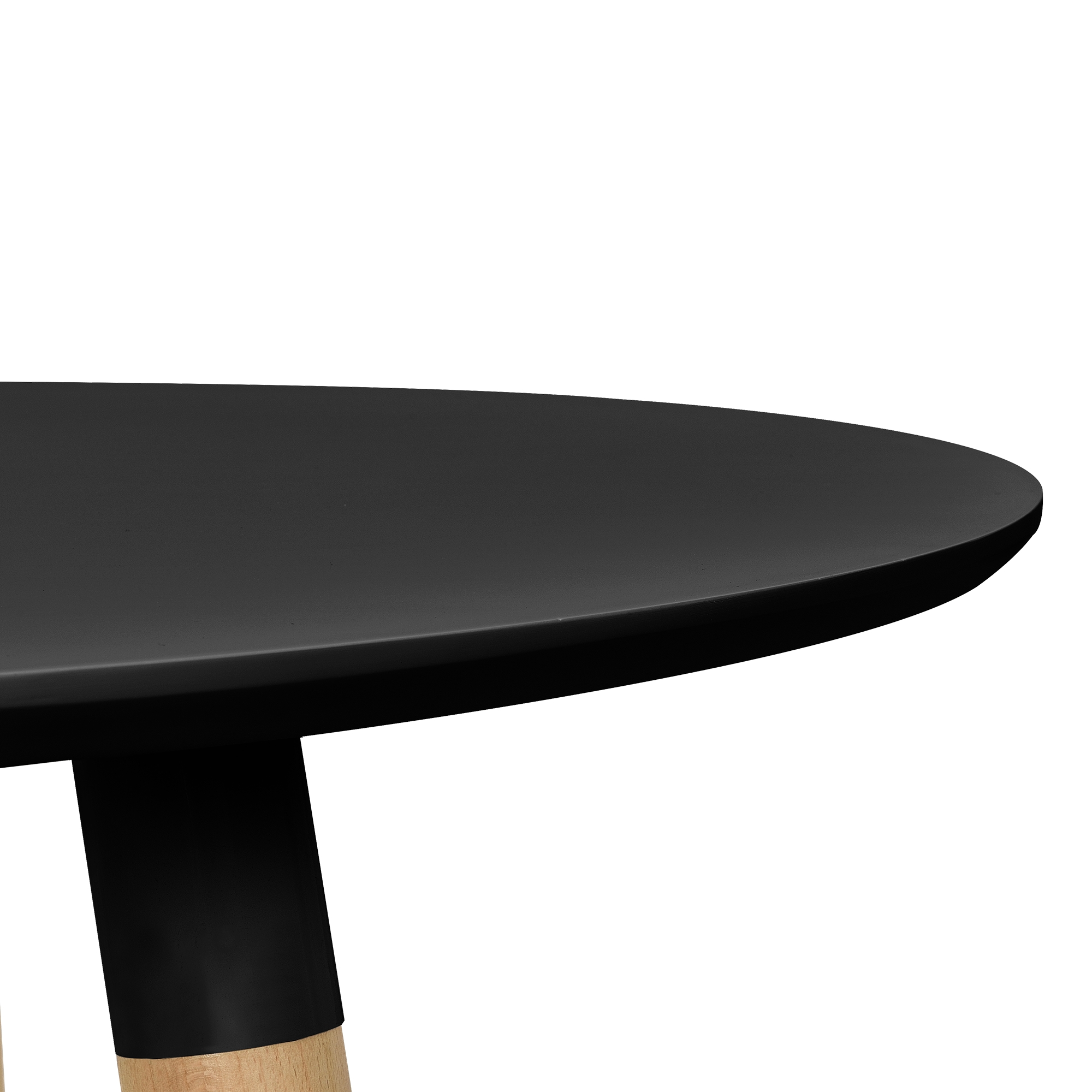 Table de salle manger noir mit 3 chaises blanc for Table salle a manger 80 cm largeur