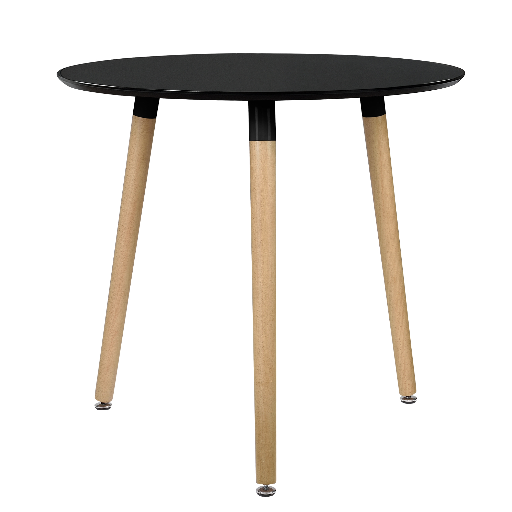esstisch rund schwarz h 75cmx 80cm holz tisch. Black Bedroom Furniture Sets. Home Design Ideas