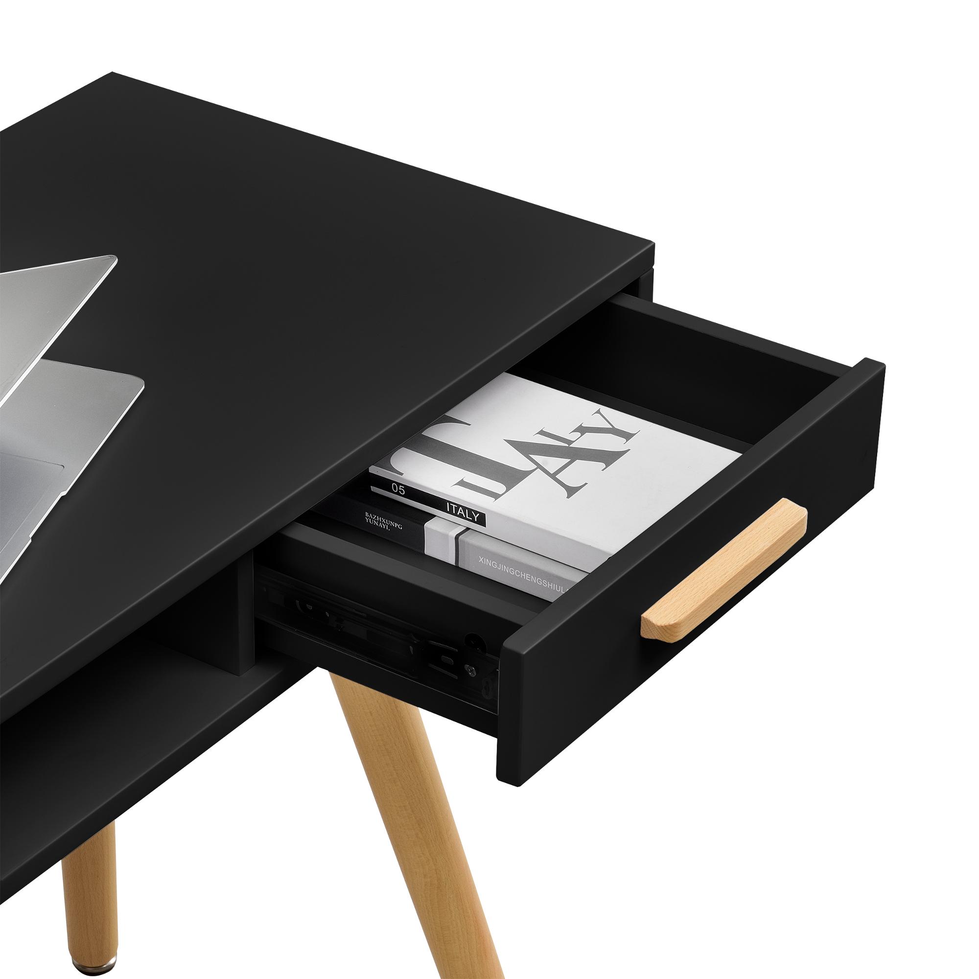 En casa retro scrivania sedia nero tavolo per - Tavolo per computer ...