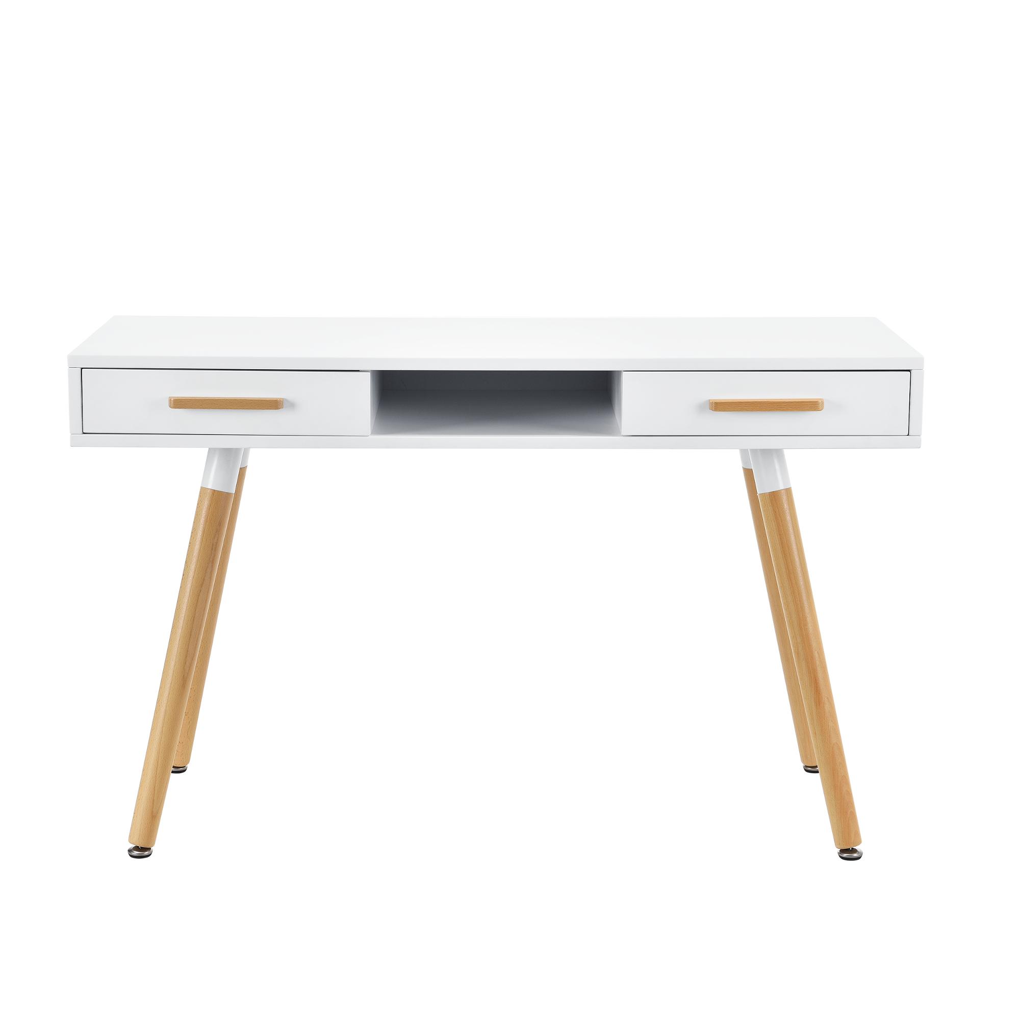 [ensa] Retro Schreibtisch Stuhl Weiß Putertisch