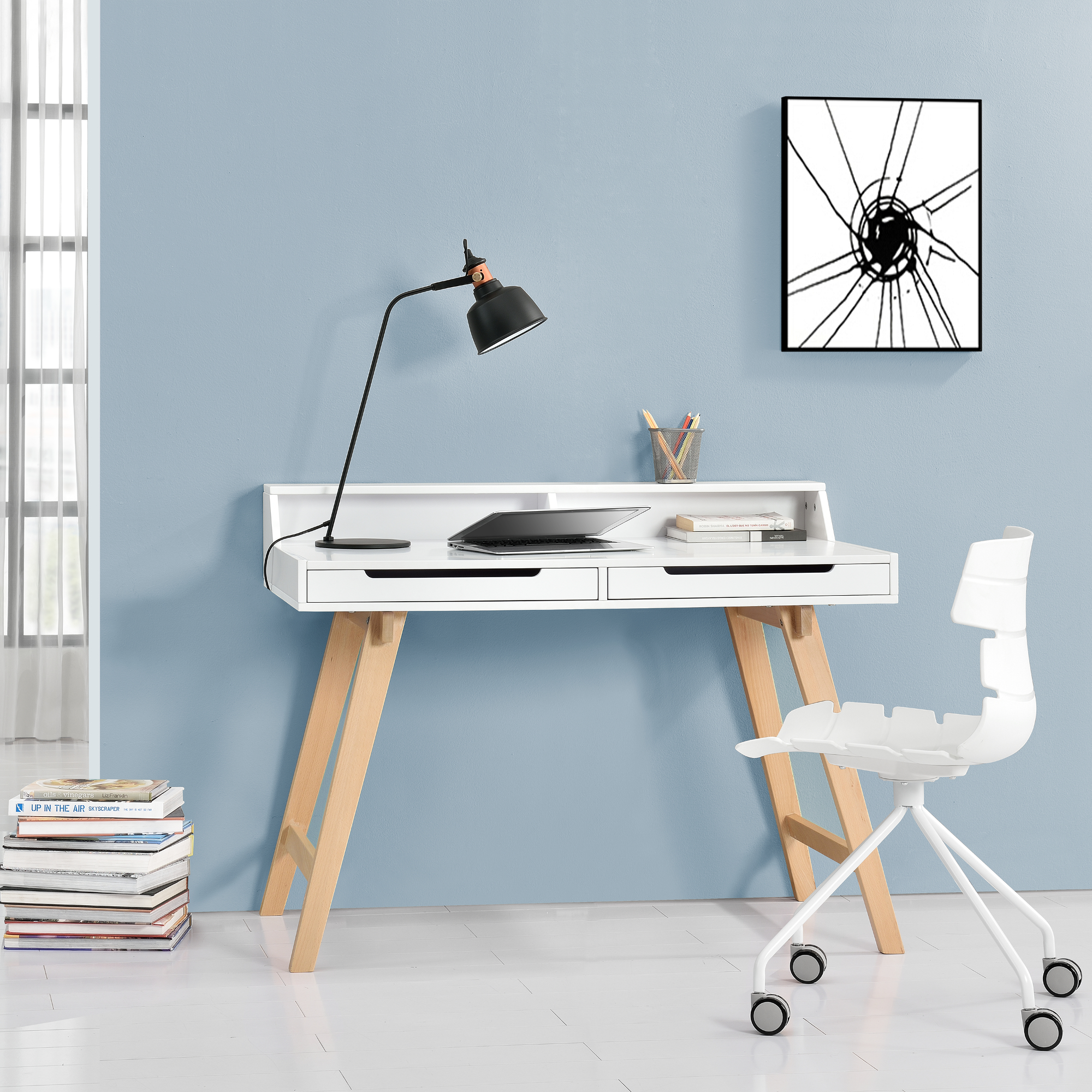 retro desk chair white computer table table. Black Bedroom Furniture Sets. Home Design Ideas