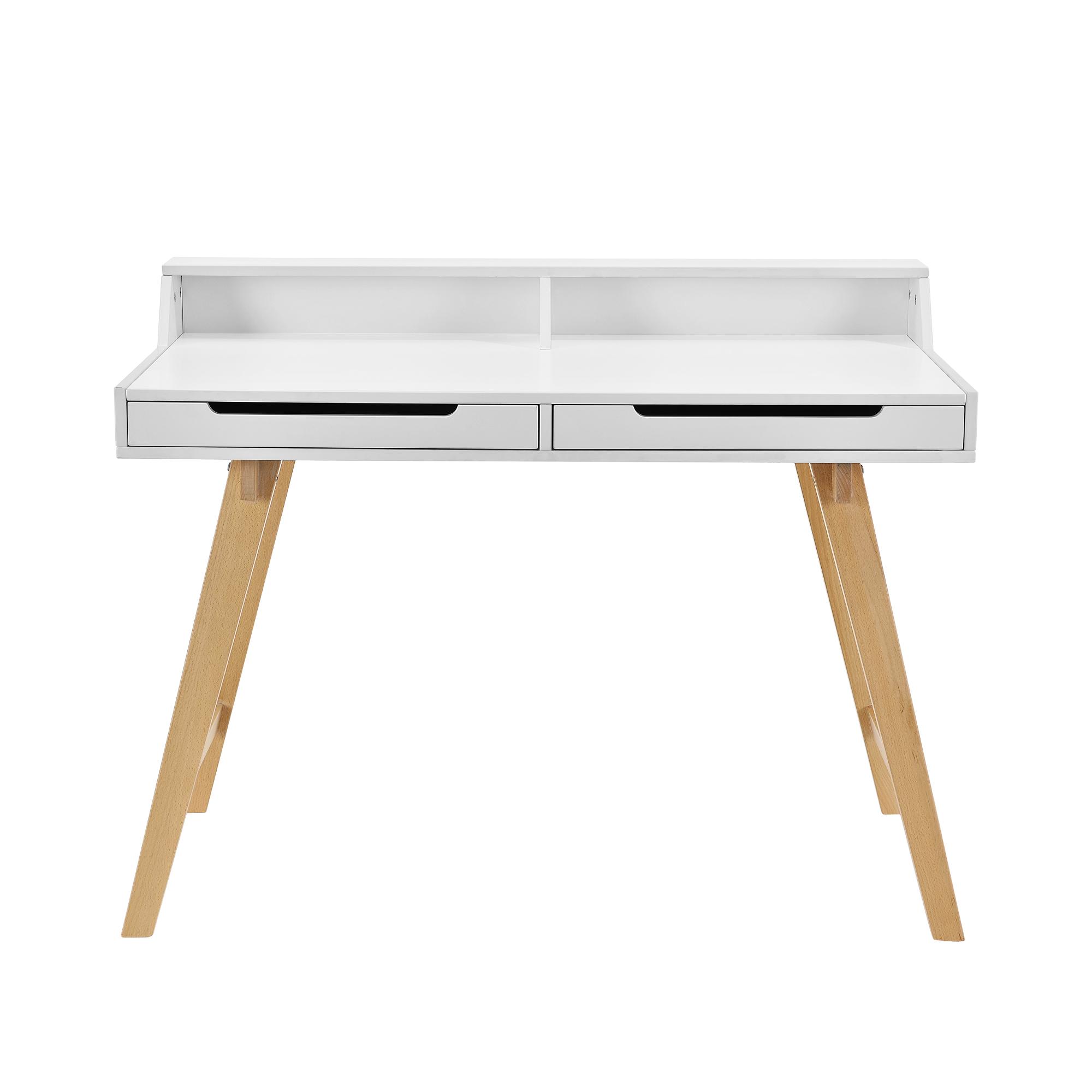 retro schreibtisch stuhl wei computertisch tisch konsole design ebay. Black Bedroom Furniture Sets. Home Design Ideas