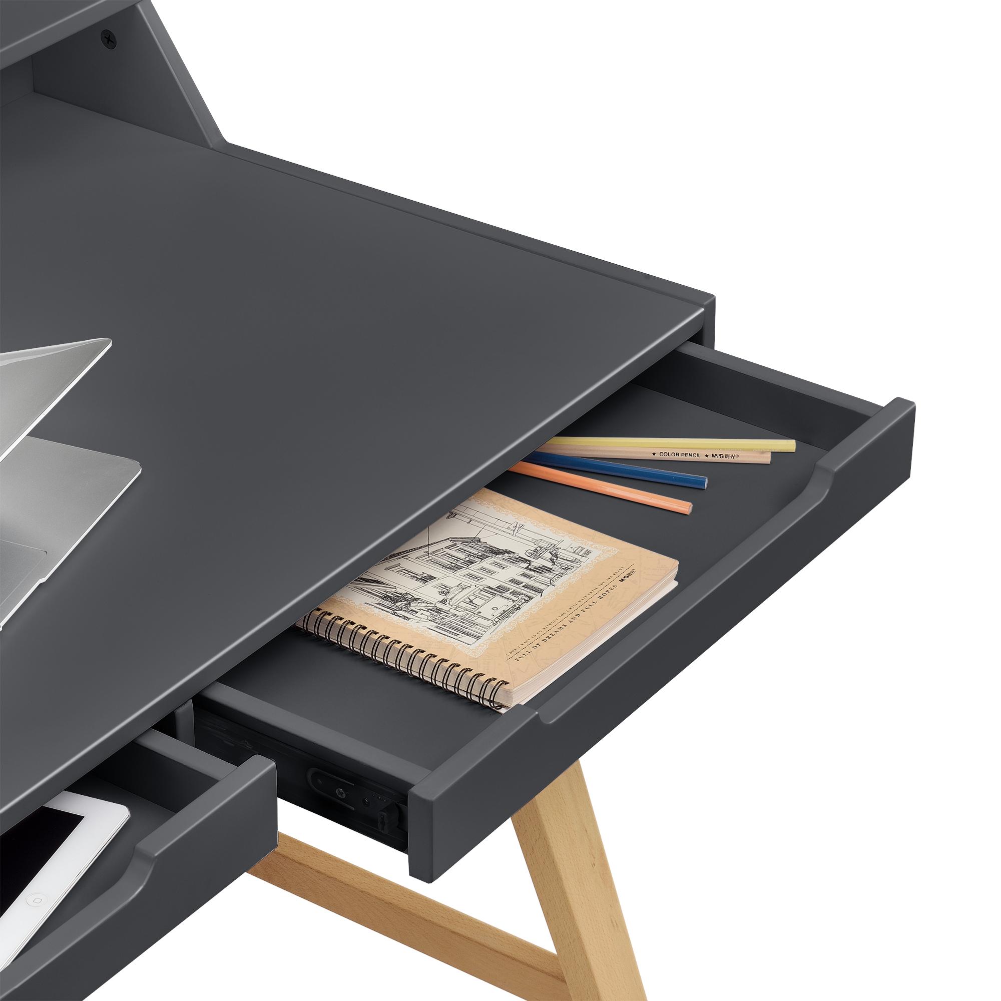 Scrivania retro con sedia grigio tavolo per - Tavolo per computer ...