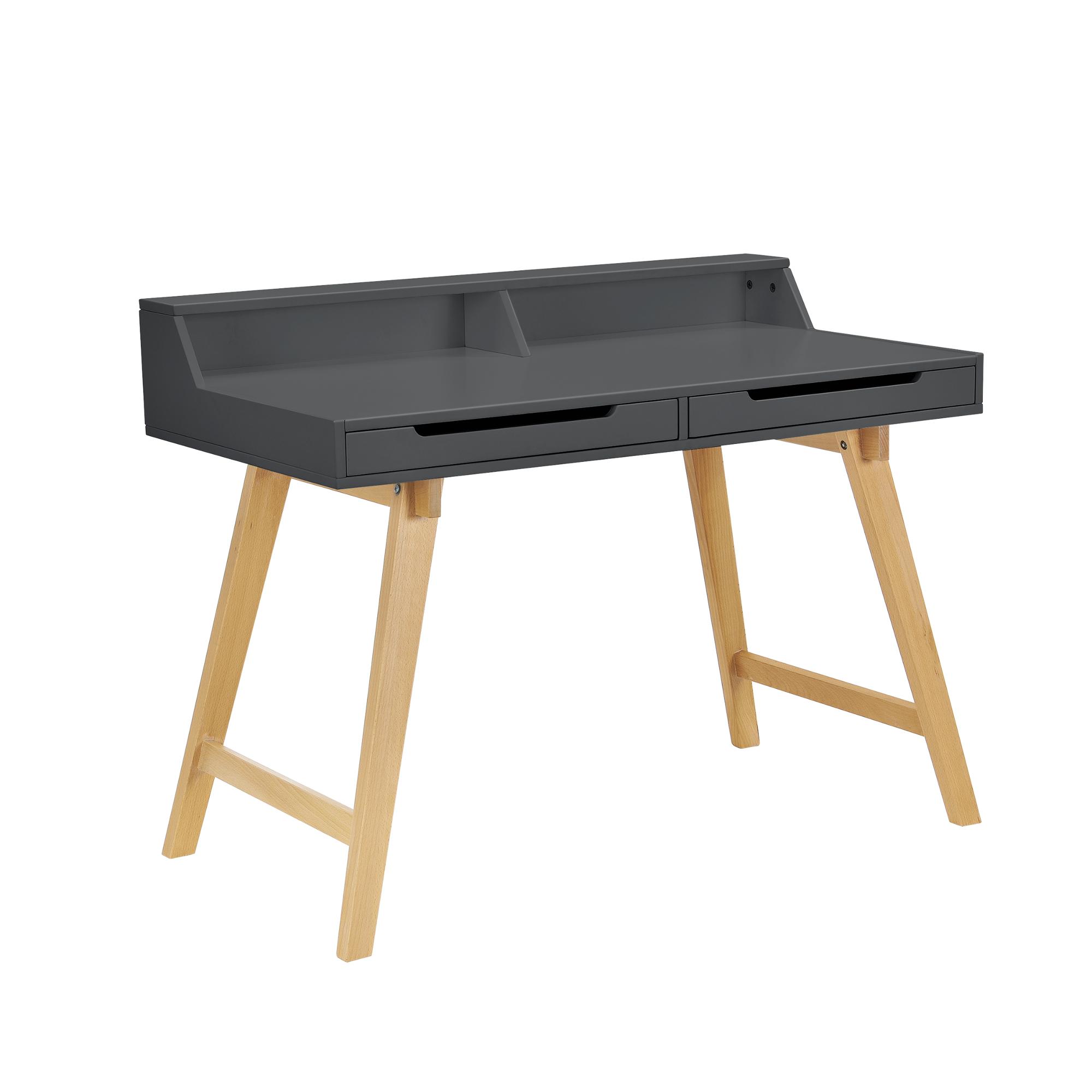 Schreibtisch computertisch b ro tisch konsole for Schreibtisch holzbeine