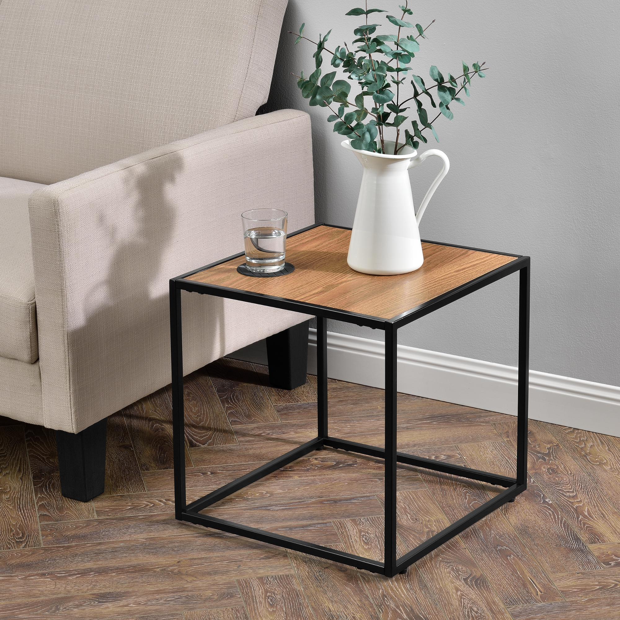 Beistelltisch couchtisch holz metall tisch for Beistelltisch designklassiker
