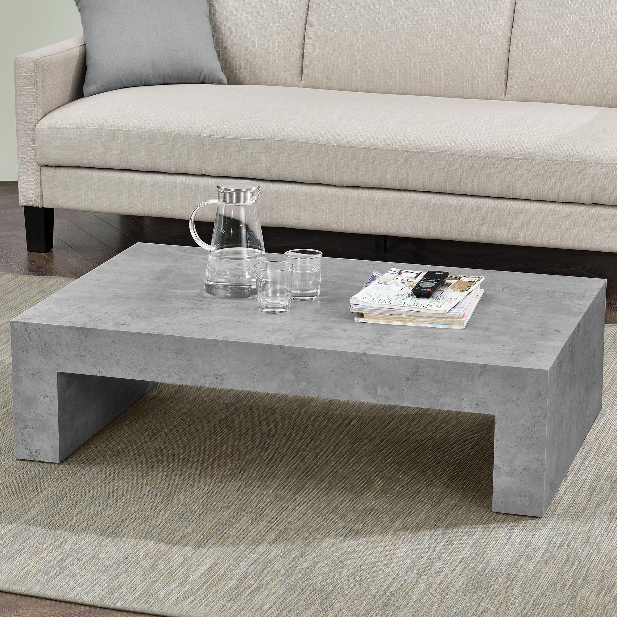table basse b ton gris 110x70cm table de salon. Black Bedroom Furniture Sets. Home Design Ideas