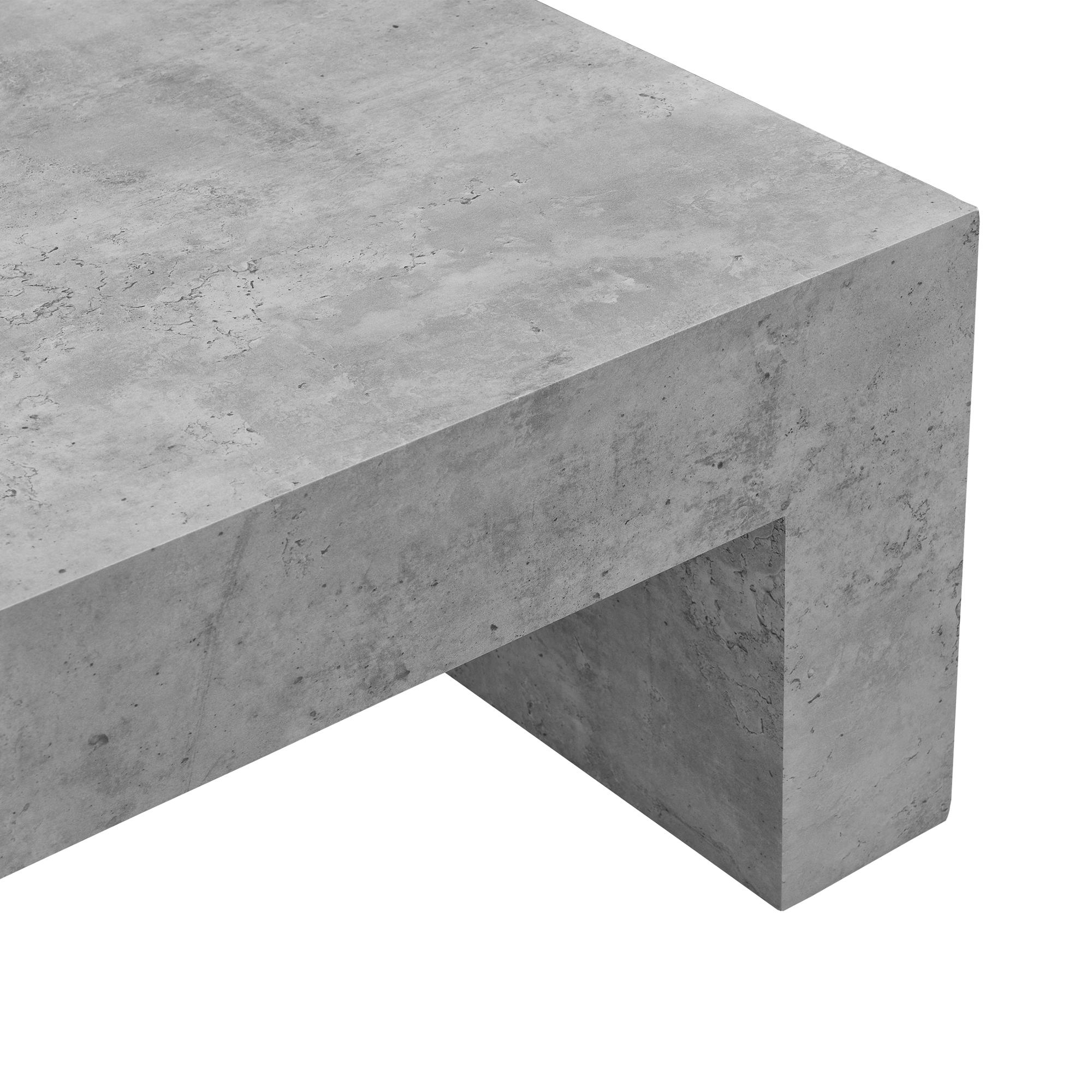 couchtisch beton grau 110x70cm wohnzimmertisch