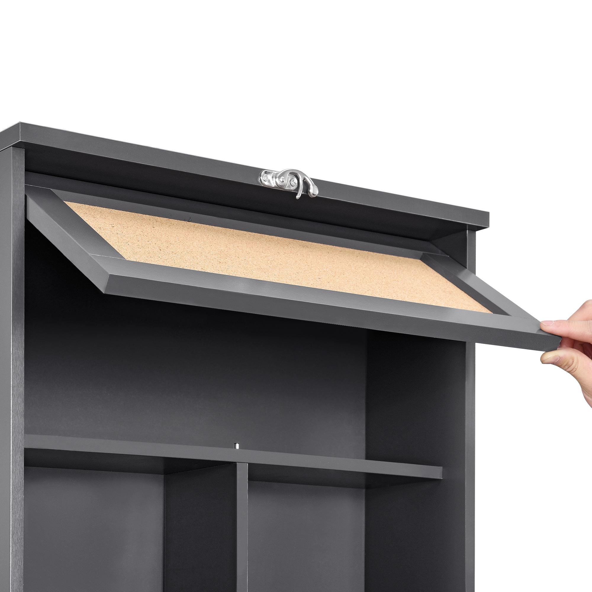 wandtisch grau schreibtisch tisch regal wand klapptisch aus klappbar. Black Bedroom Furniture Sets. Home Design Ideas