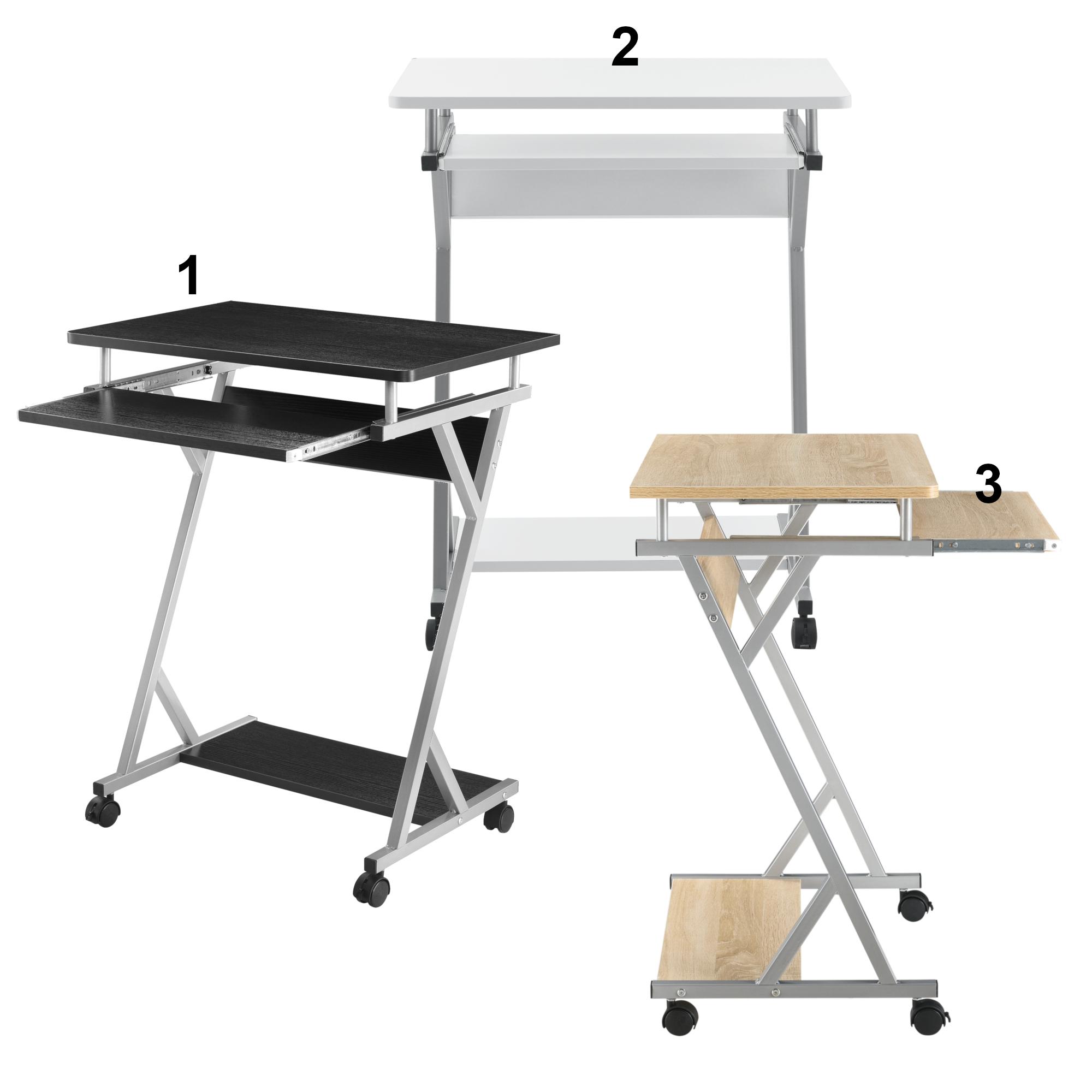 Schreibtisch 60x40x75cm Eiche Rollbar Computertisch Bürotisch Tisch